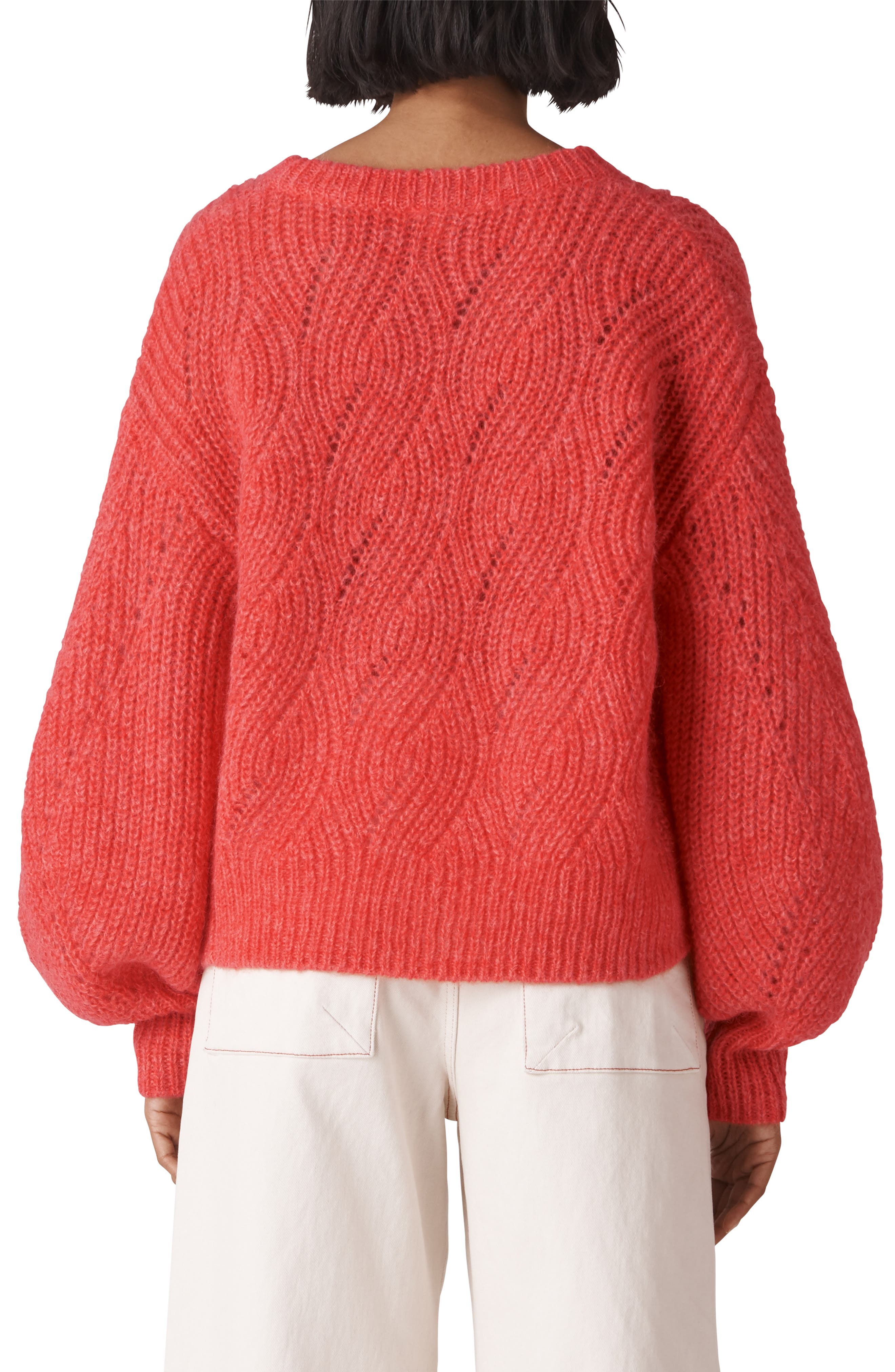 Sophia Wool Blend Sweater,                             Alternate thumbnail 2, color,                             RED