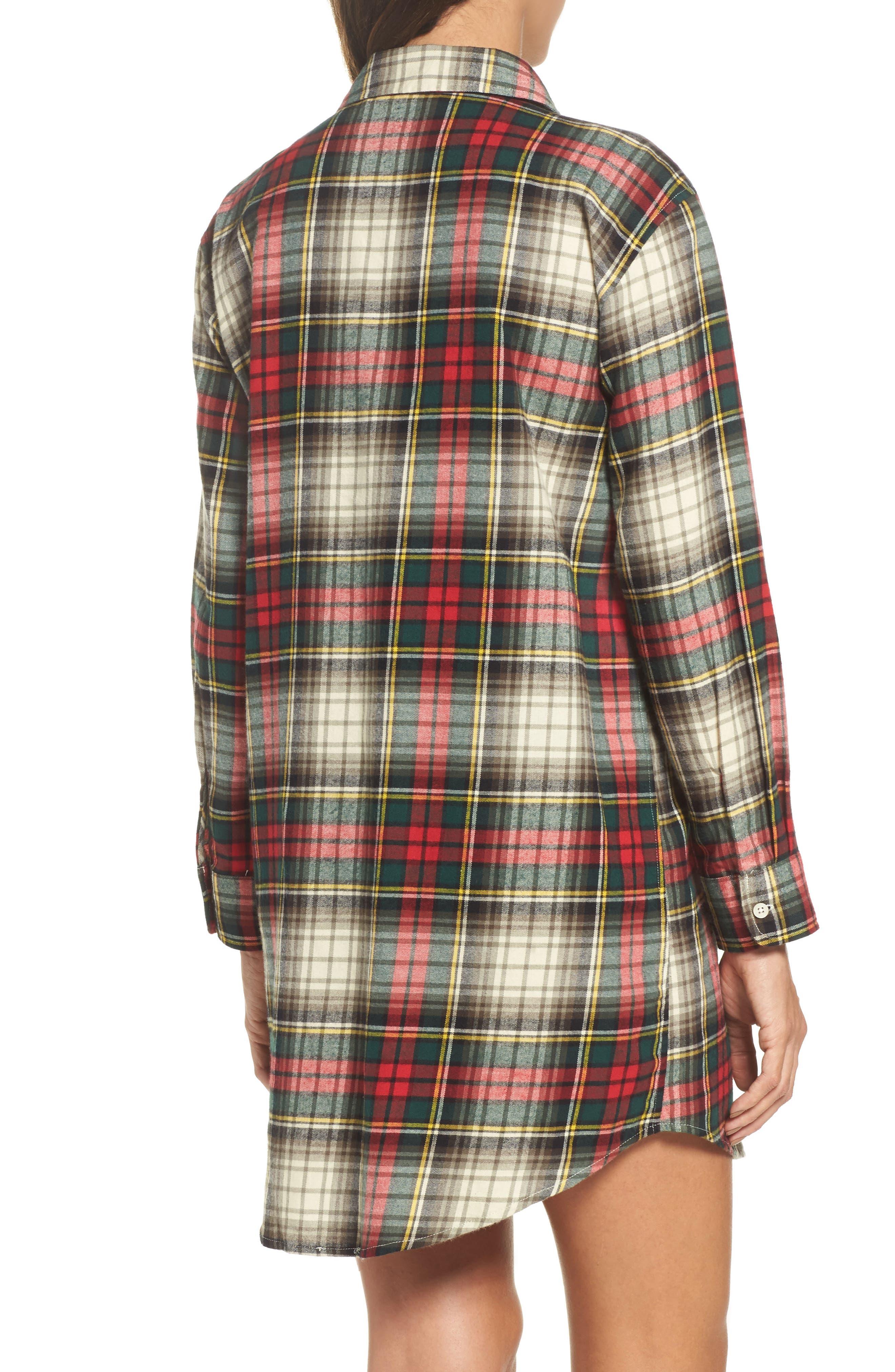 Flannel Sleep Shirt,                             Alternate thumbnail 7, color,
