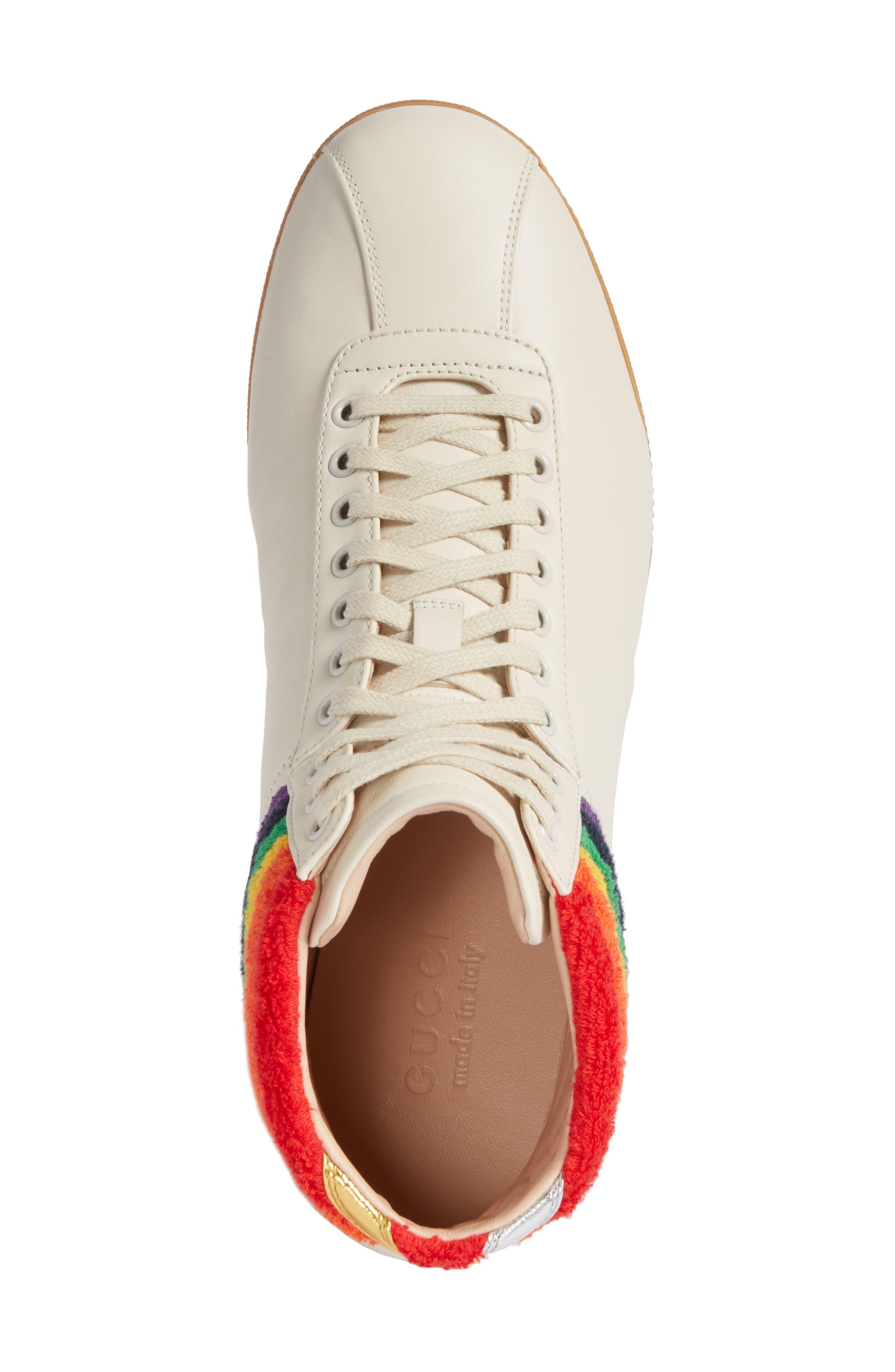 Bambi Rainbow Terry High Top Sneaker,                             Alternate thumbnail 5, color,