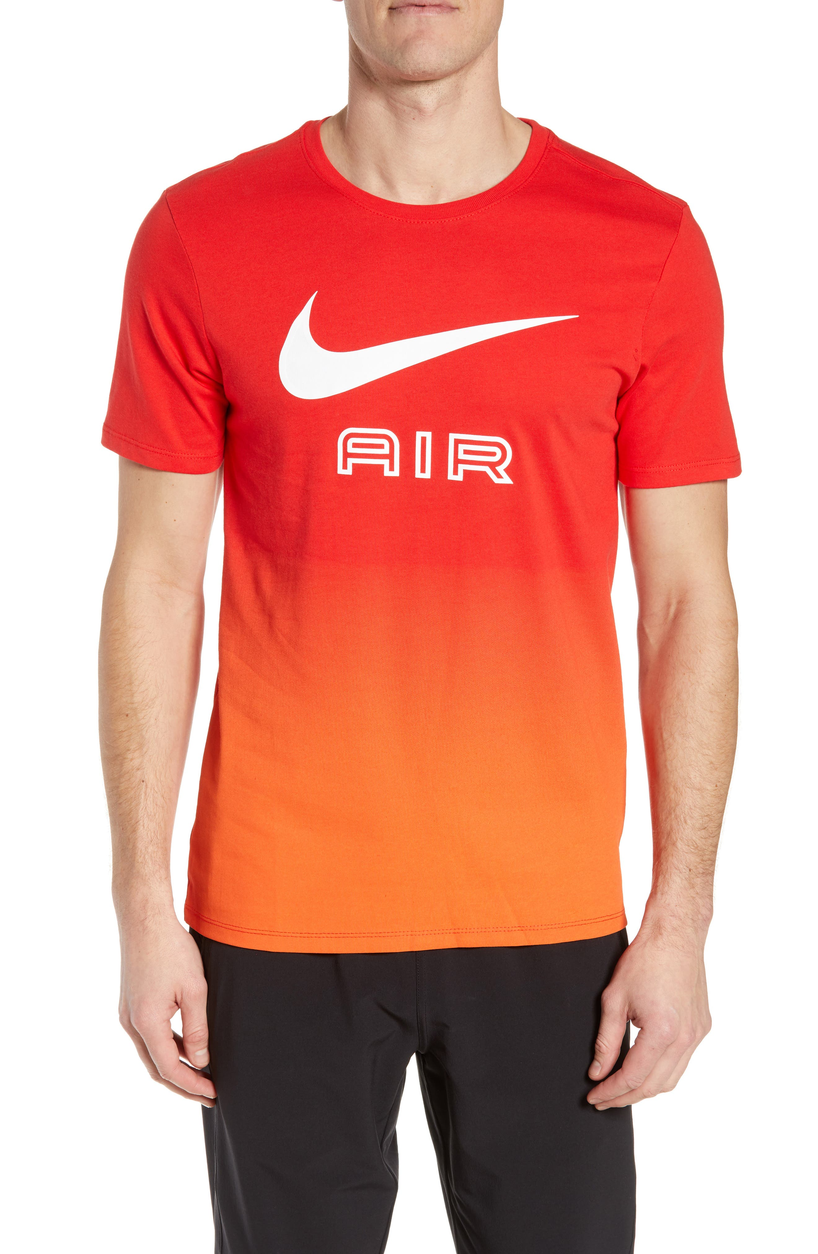 Nike Air Ombre Logo T-Shirt, Red