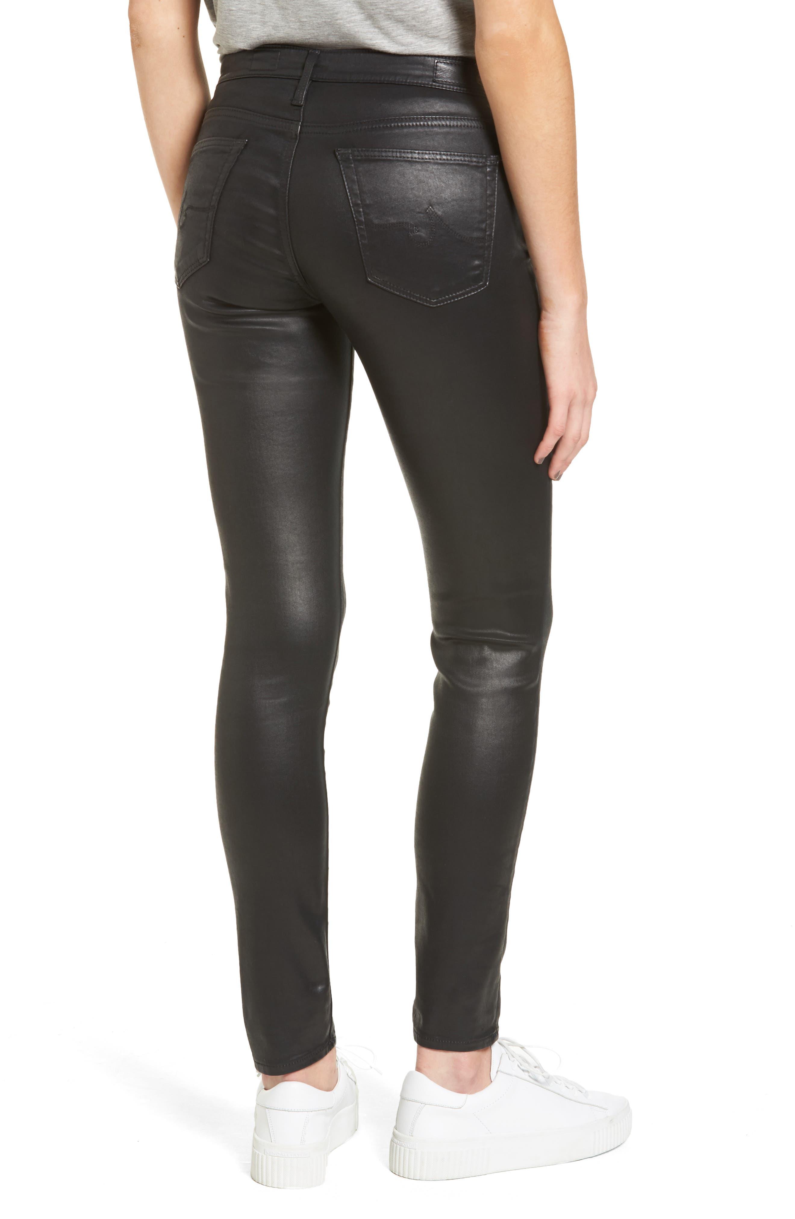 The Legging Ankle Jeans,                             Alternate thumbnail 2, color,                             LEATHERETTE SUPER BLACK