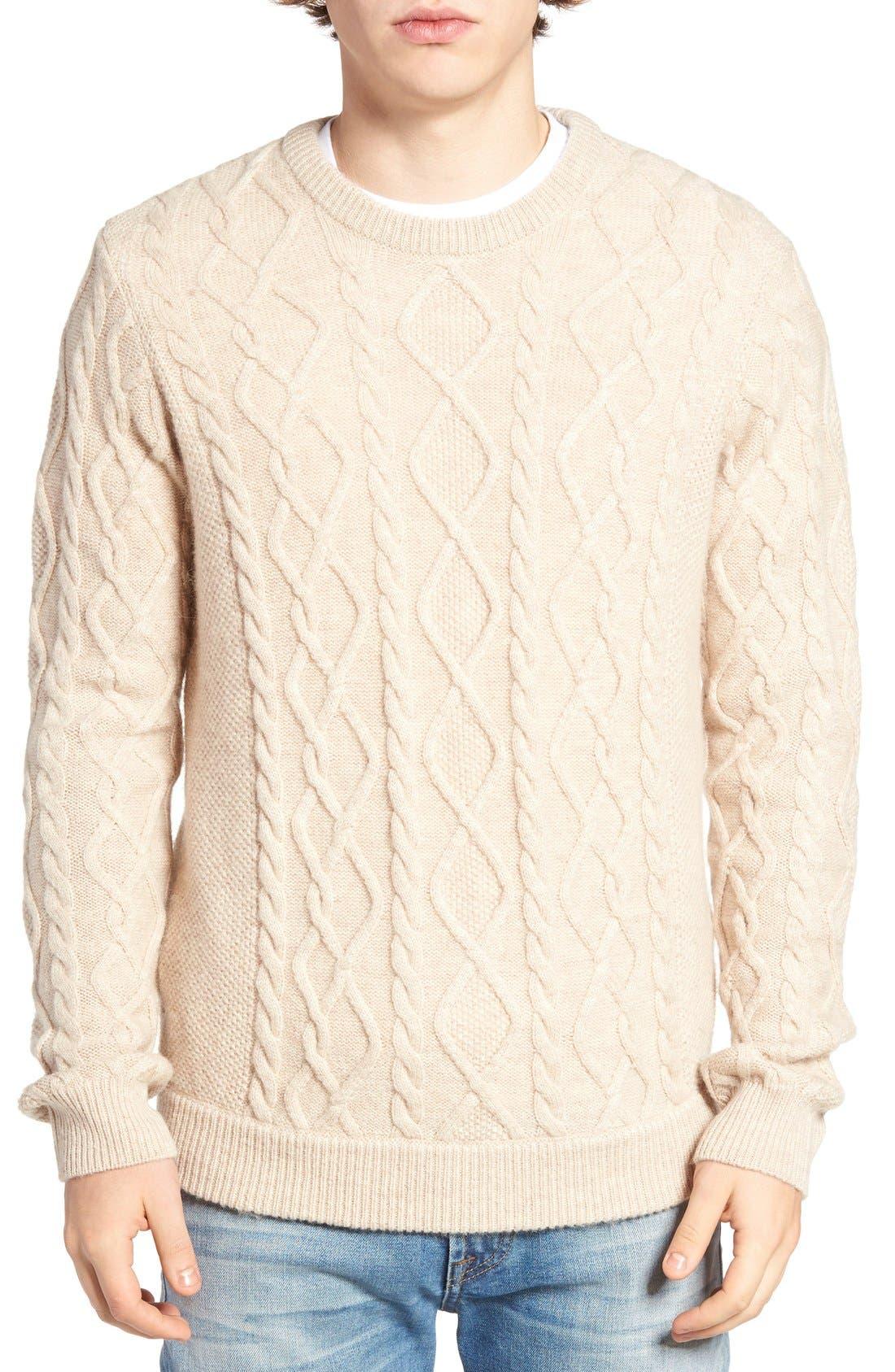 Fisherman Sweater,                             Main thumbnail 1, color,                             020