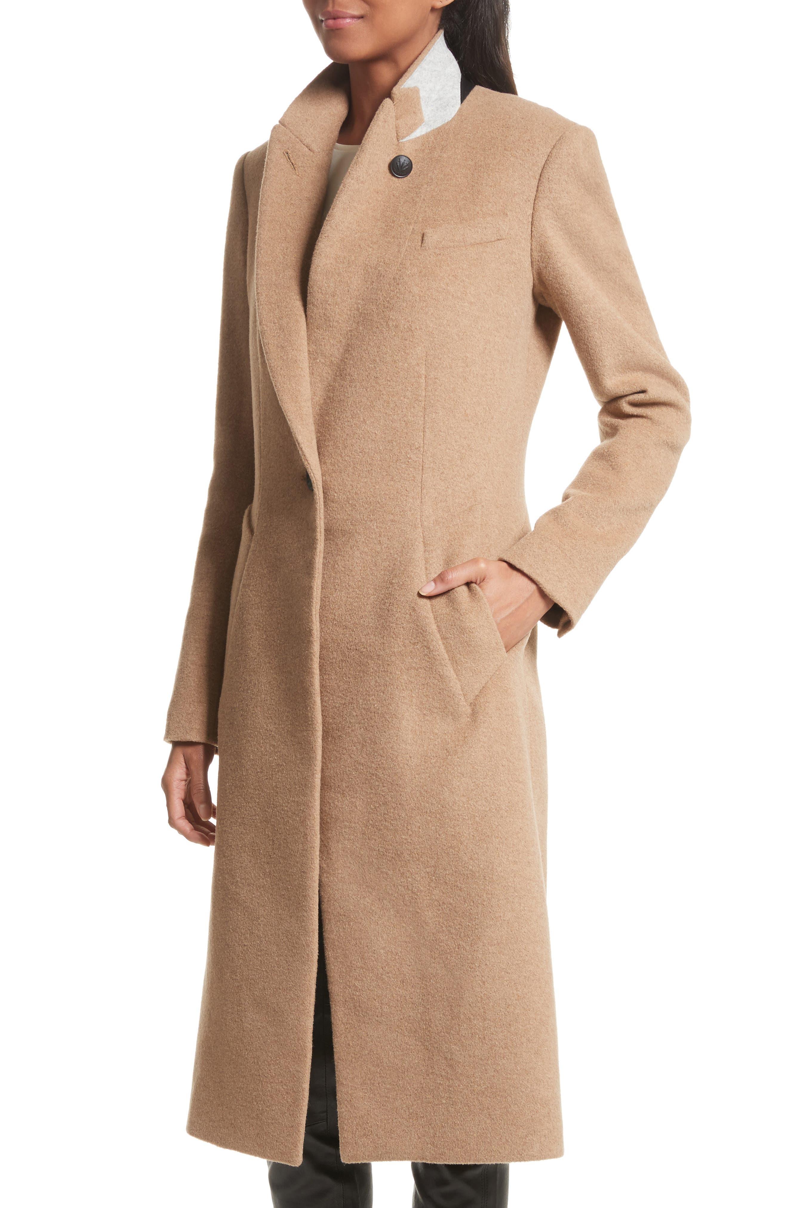 Duke Camel Hair Coat,                             Alternate thumbnail 4, color,                             202