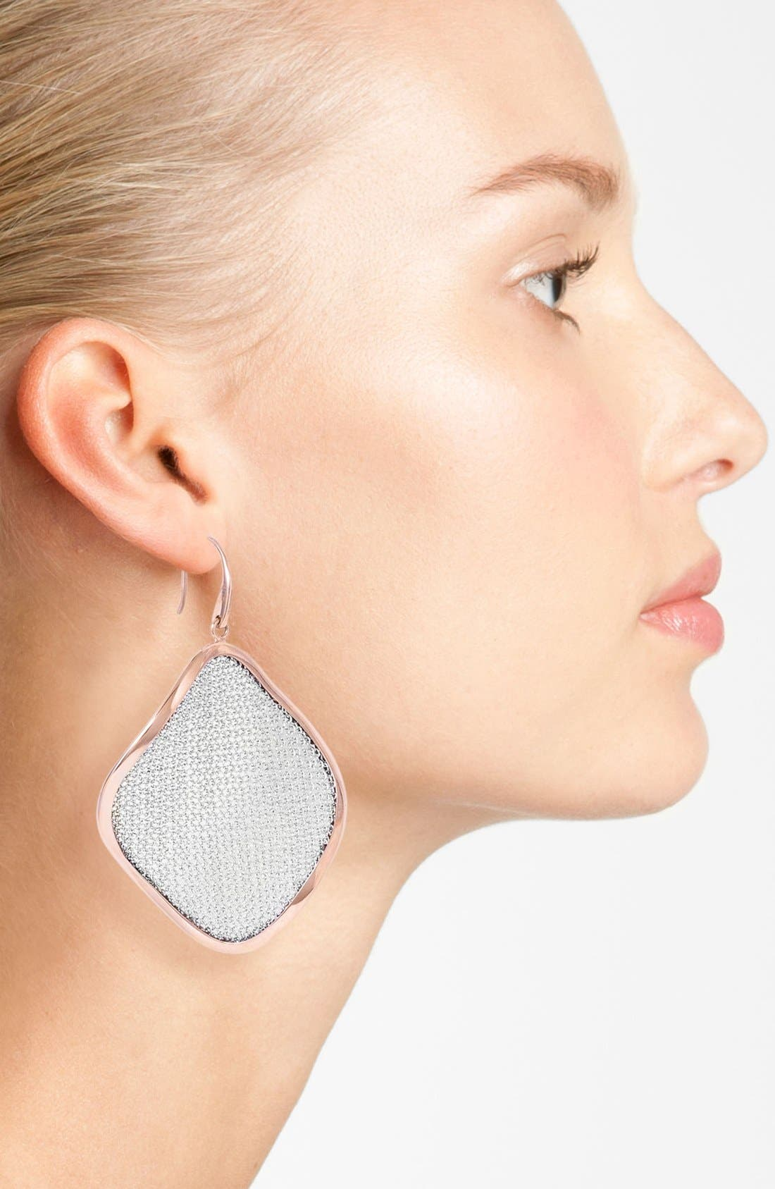 'Mesh' Large Drop Earrings,                             Alternate thumbnail 6, color,