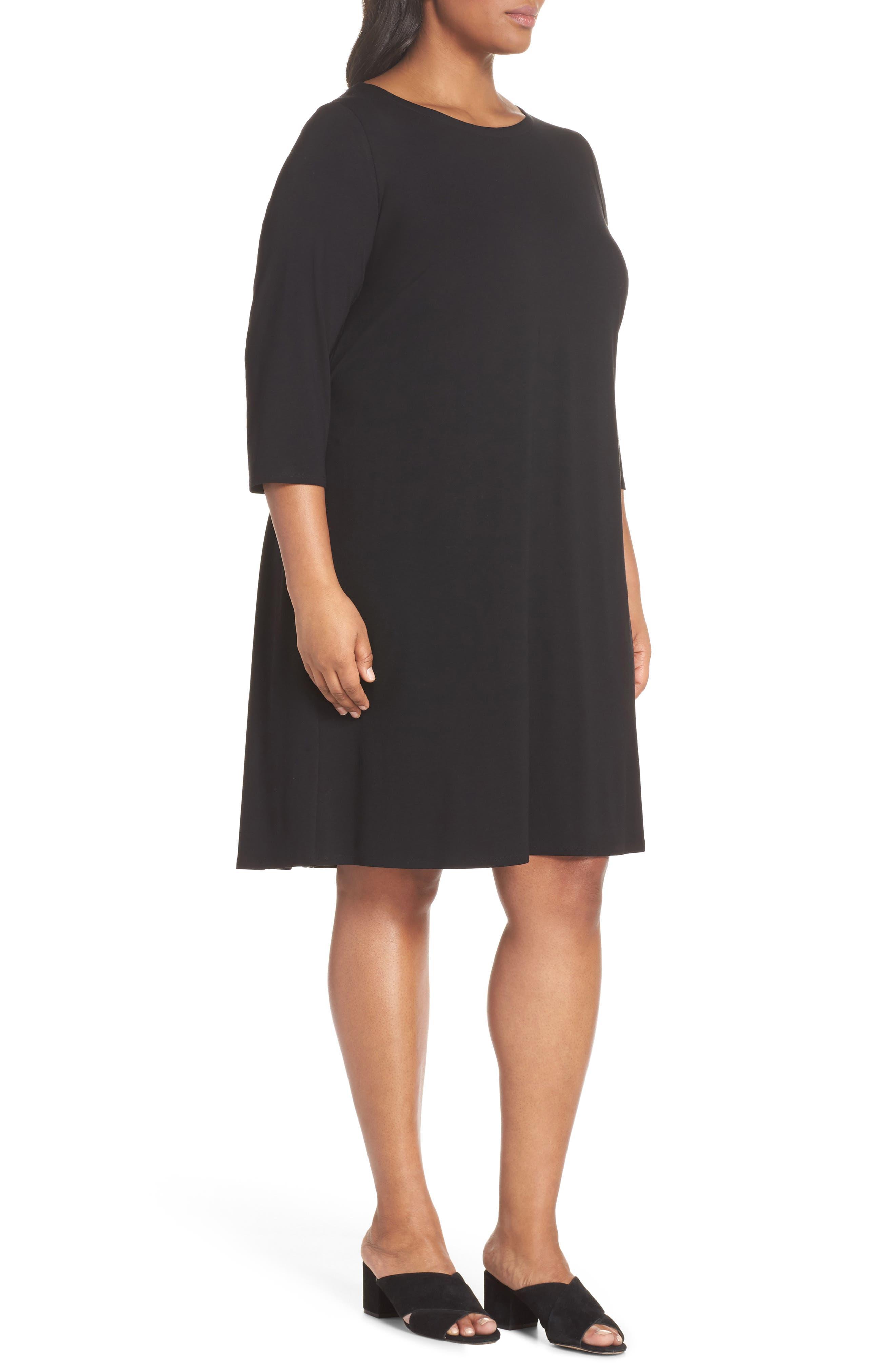 Jewel Neck Tie Back Dress,                             Alternate thumbnail 11, color,