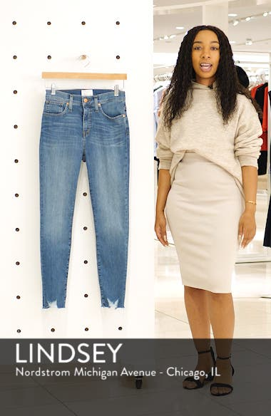 Sierra High Waist Raw Hem Skinny Jeans, sales video thumbnail
