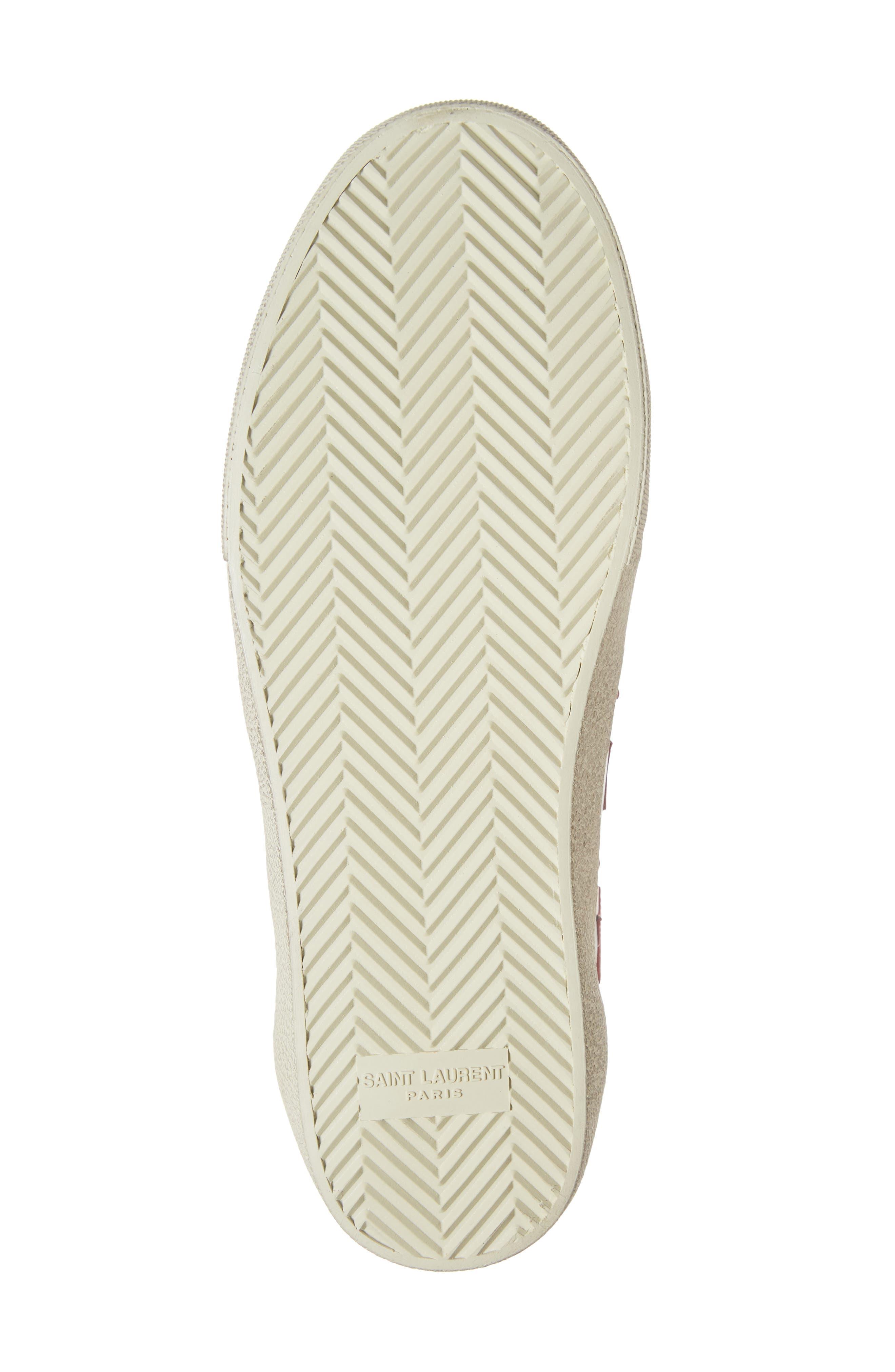 SAINT LAURENT,                             Star Low-Top Sneaker,                             Alternate thumbnail 6, color,                             WHITE/ MULTI