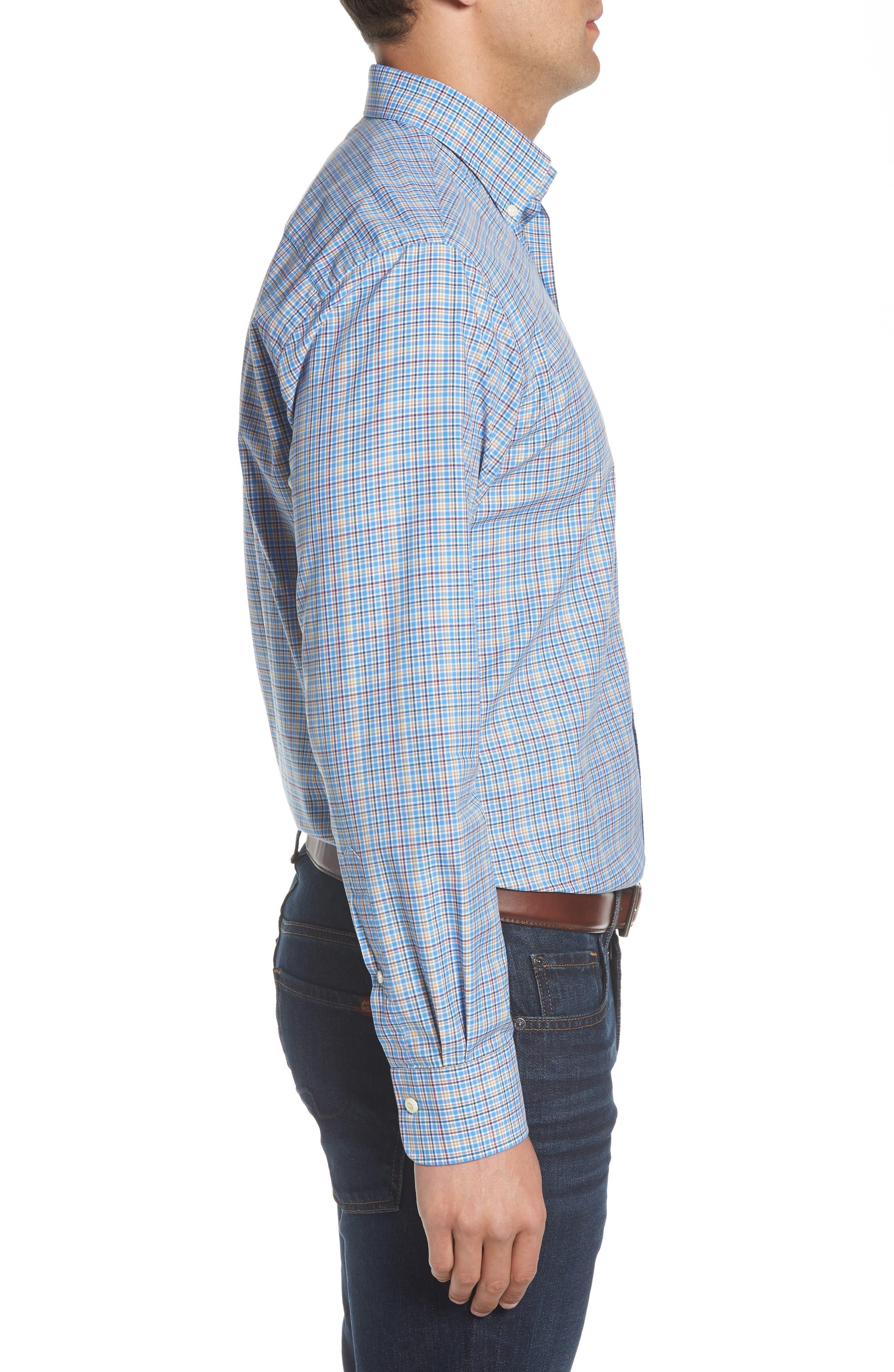 Fremont Regular Fit Multicheck Sport Shirt,                             Alternate thumbnail 3, color,                             485