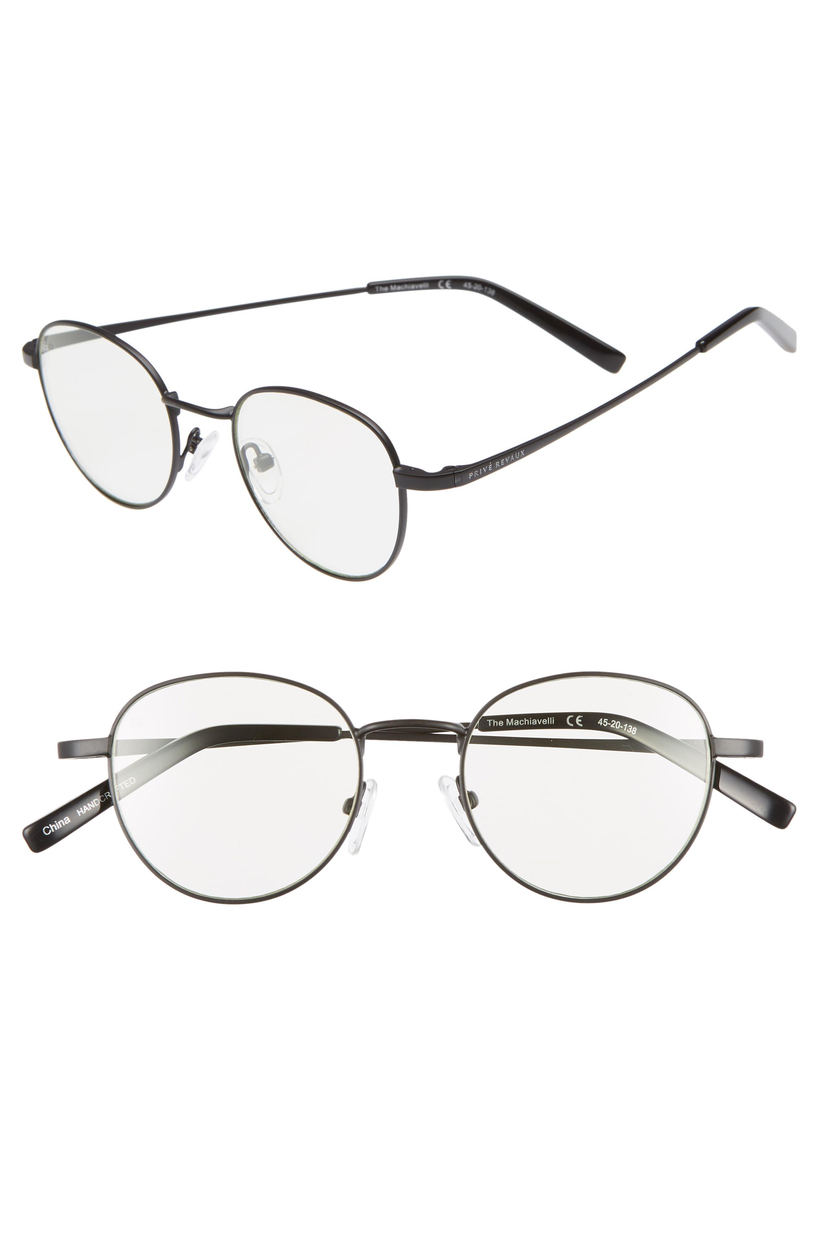 Privé Revaux The Machiavelli 45mm Blue Light Blocking Glasses,                         Main,                         color,