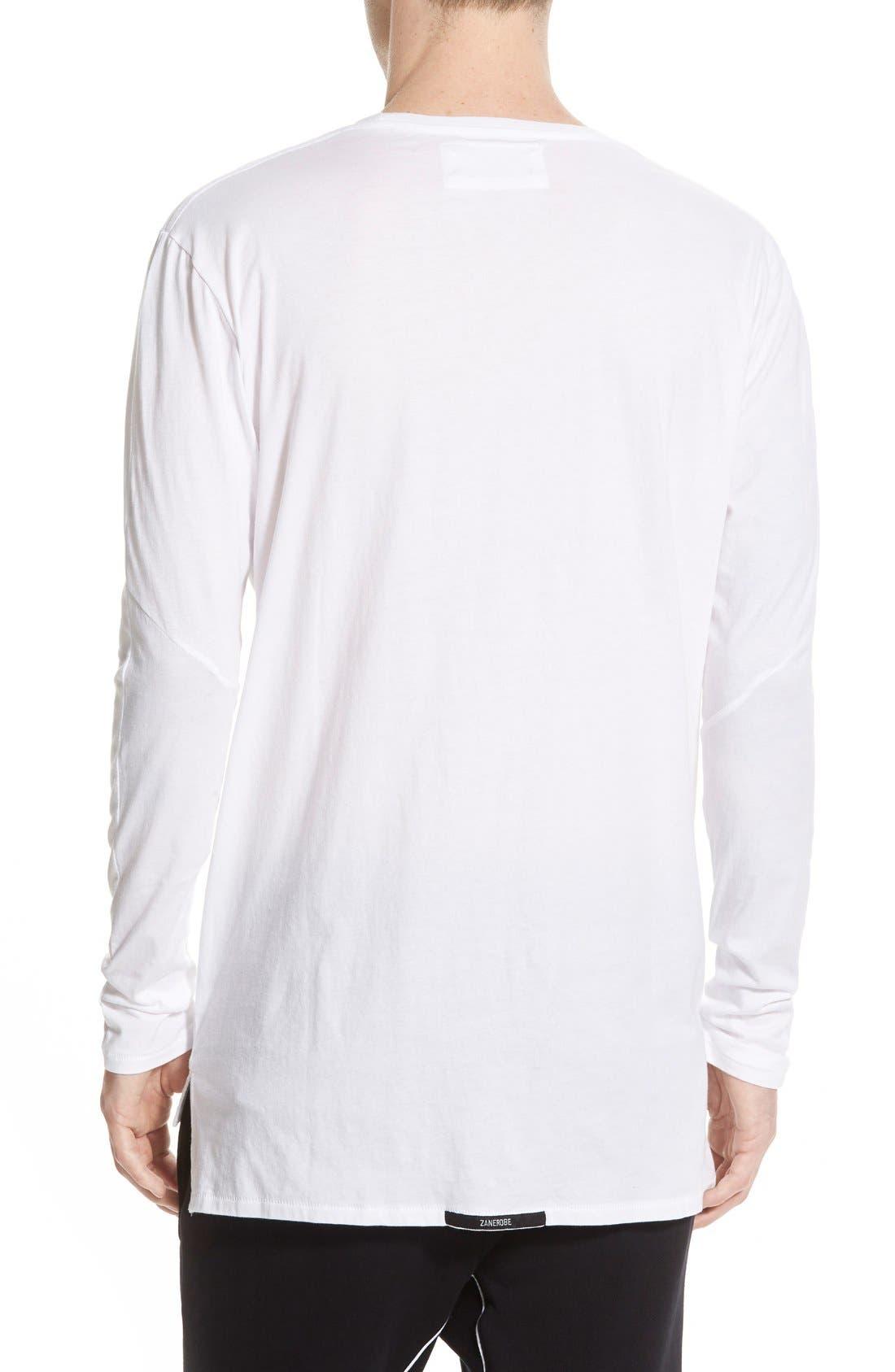 Flintlock Longline Long Sleeve T-Shirt,                             Alternate thumbnail 2, color,                             WHITE