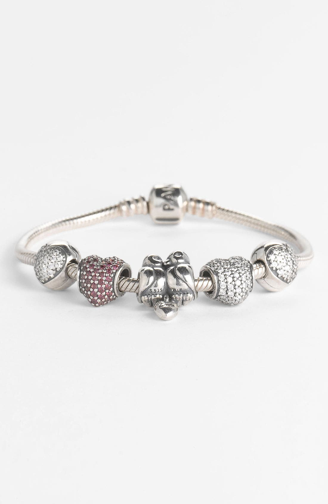 PANDORA,                             Iconic Silver Charm Bracelet,                             Alternate thumbnail 2, color,                             STERLING SILVER