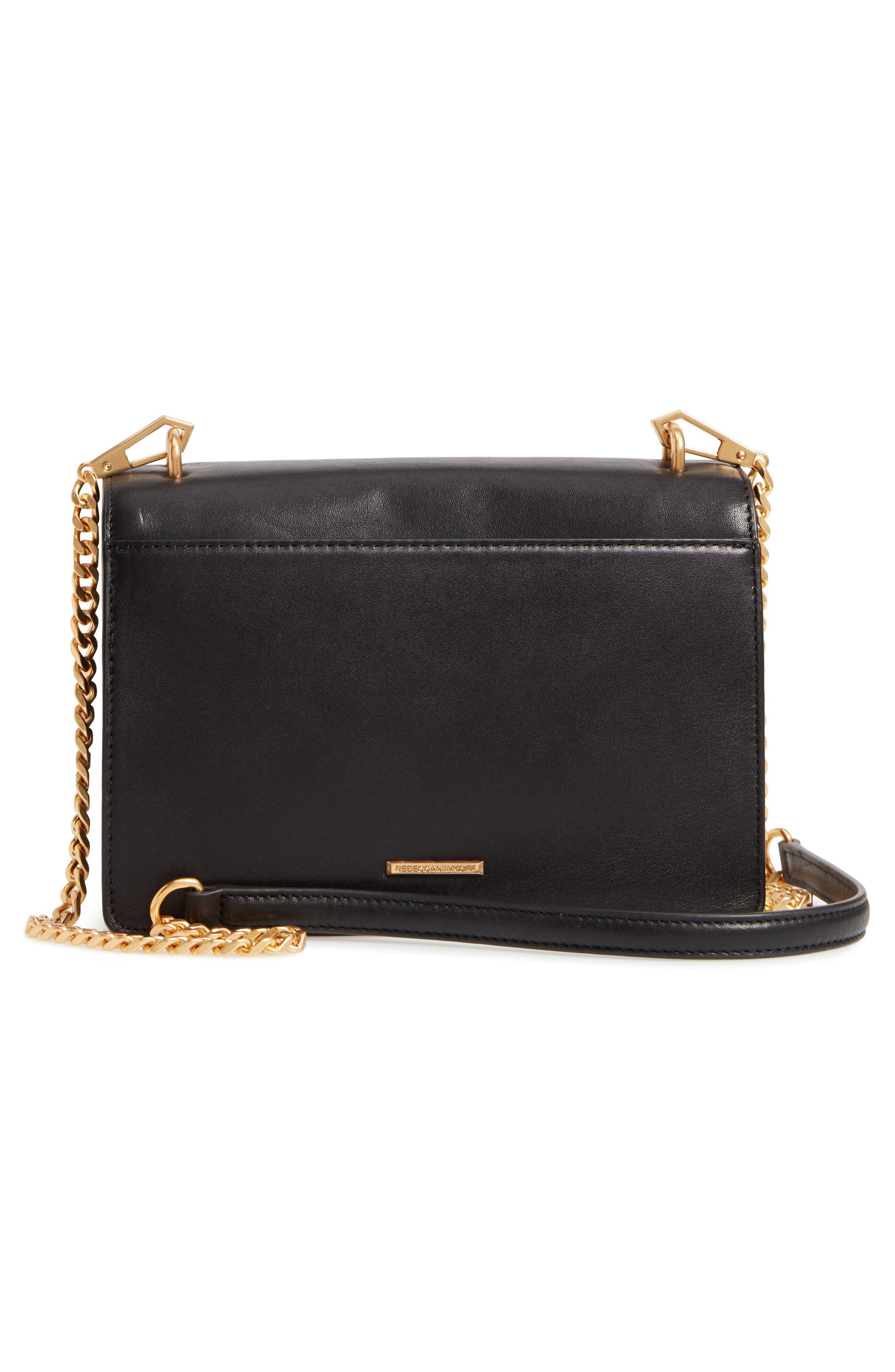 Medium Christy Leather Shoulder Bag,                             Alternate thumbnail 3, color,                             001