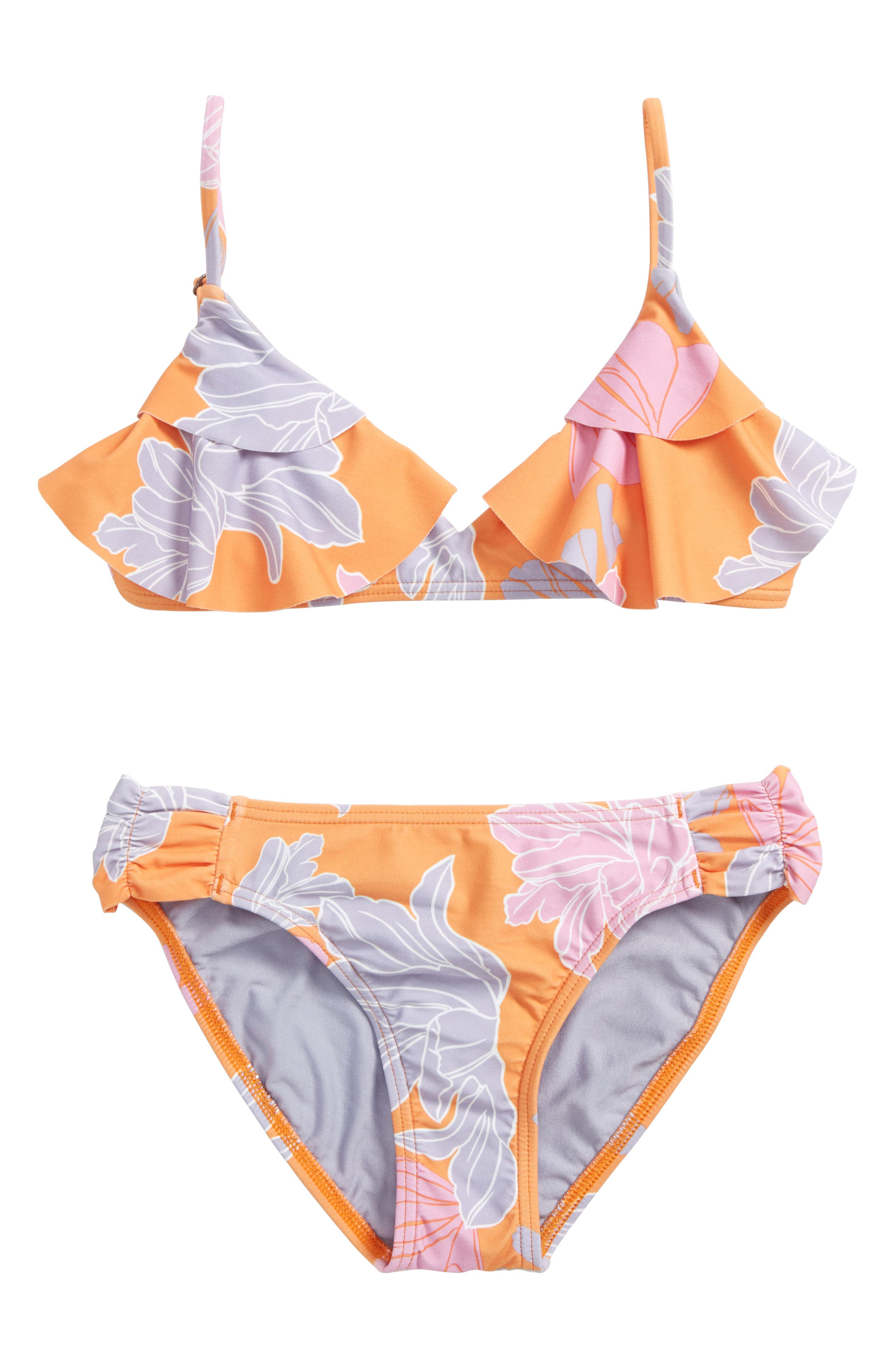 Zilla Floral Ruffle Two-Piece Swimsuit,                             Main thumbnail 1, color,                             805