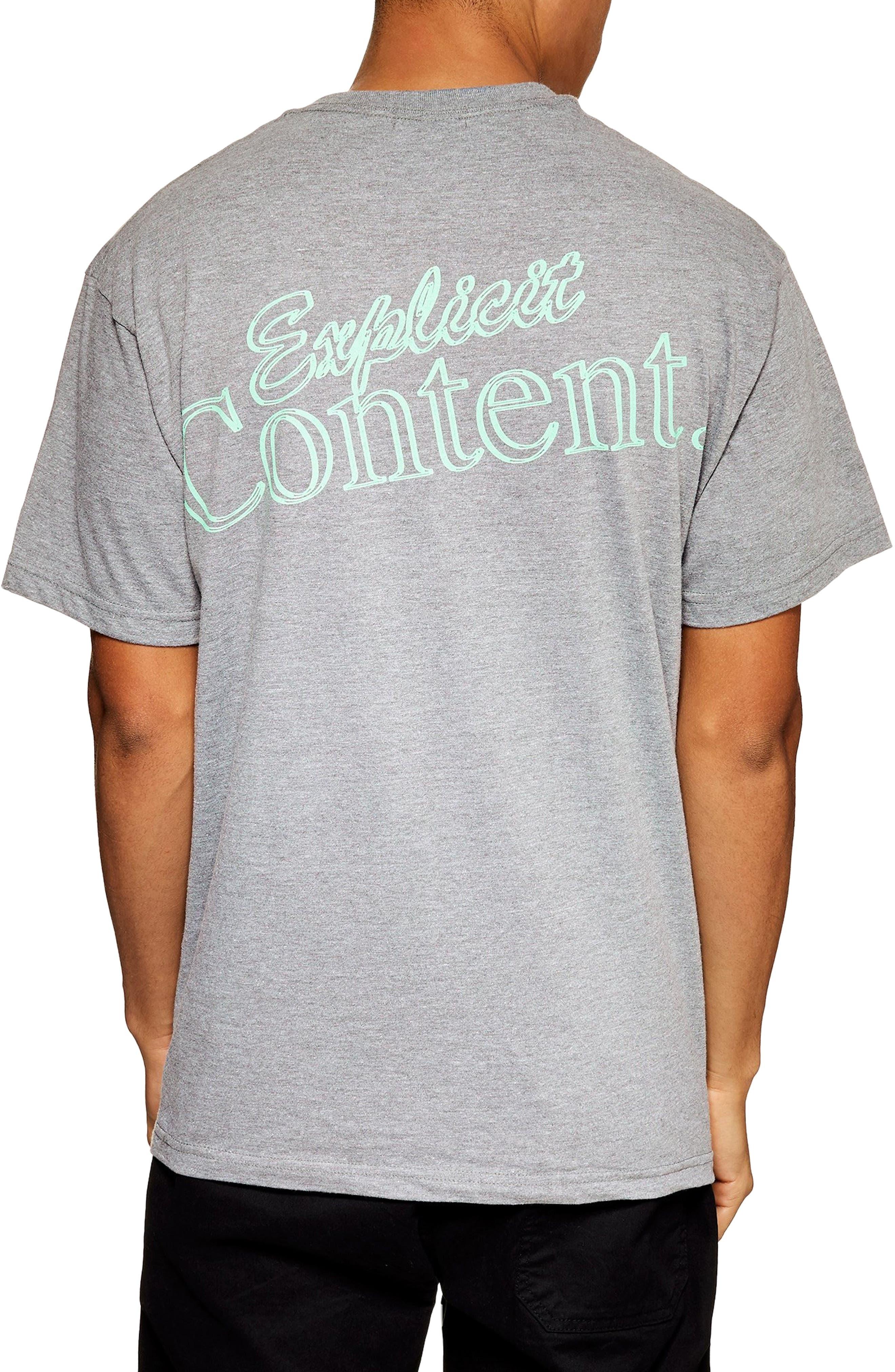 Explicit Content T-Shirt,                             Alternate thumbnail 2, color,                             GREY