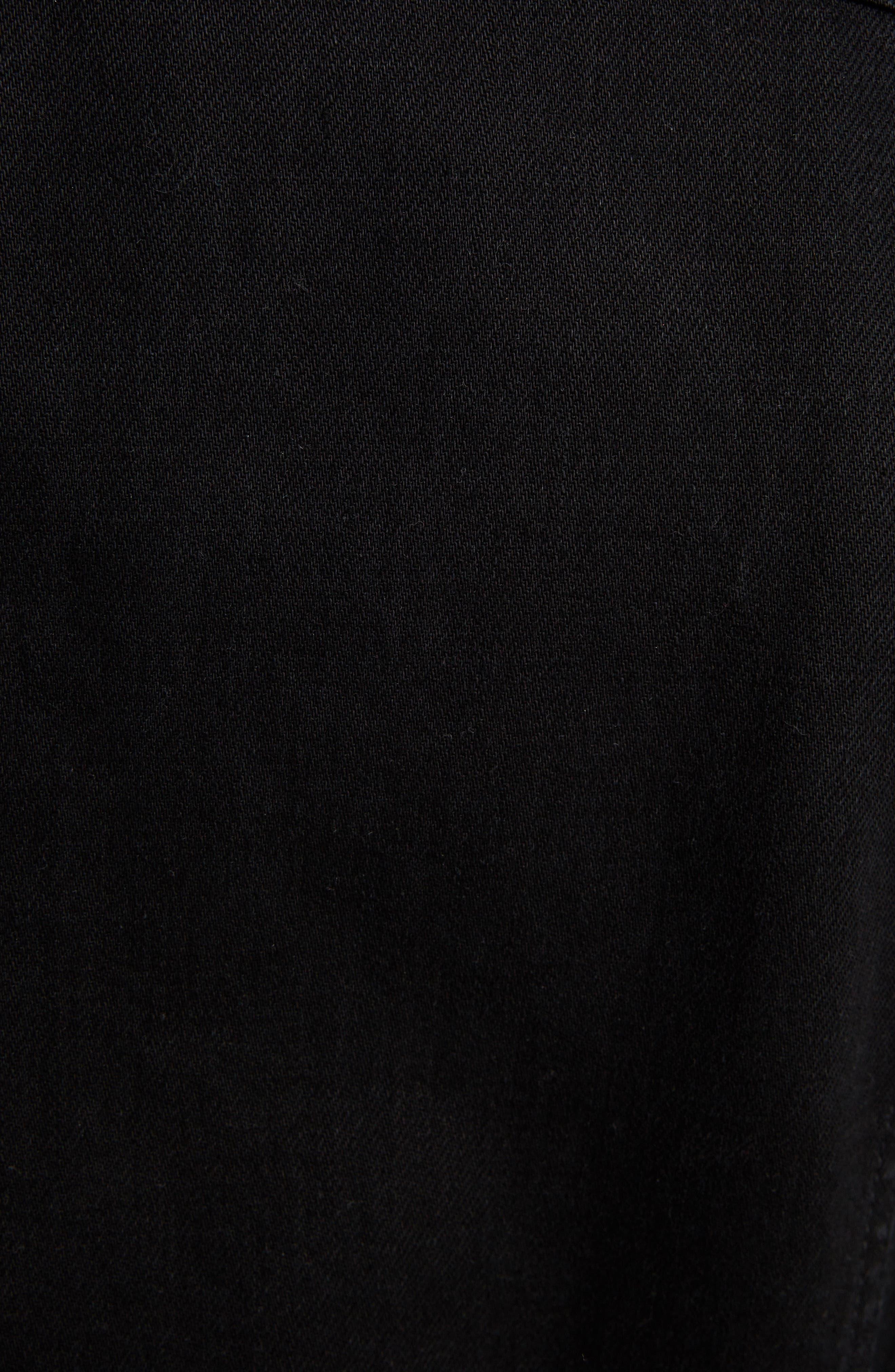 GIVENCHY,                             Logo Denim Jacket,                             Alternate thumbnail 5, color,                             BLACK