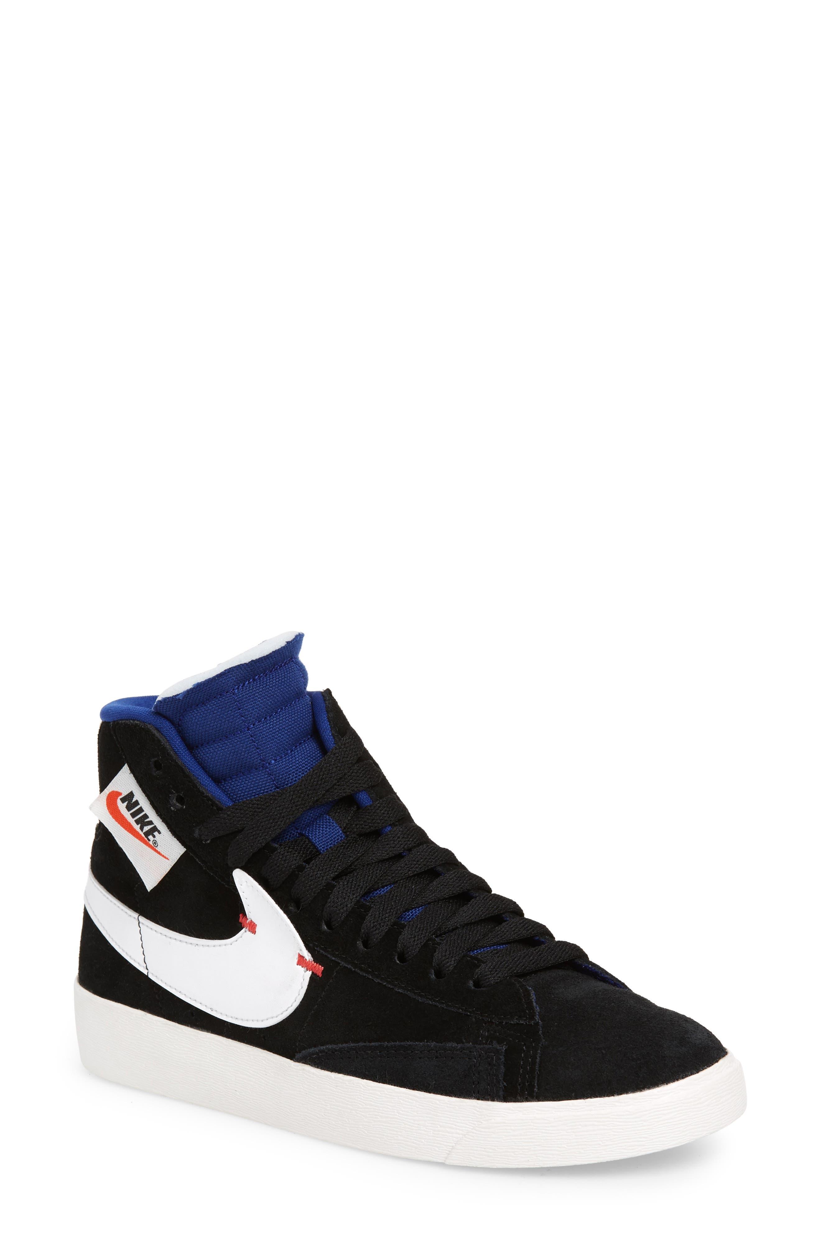 super popular 21f6f db6a3 ... cheapest nike blazer mid rebel sneaker main color black white deep  royal 15f73 33fce