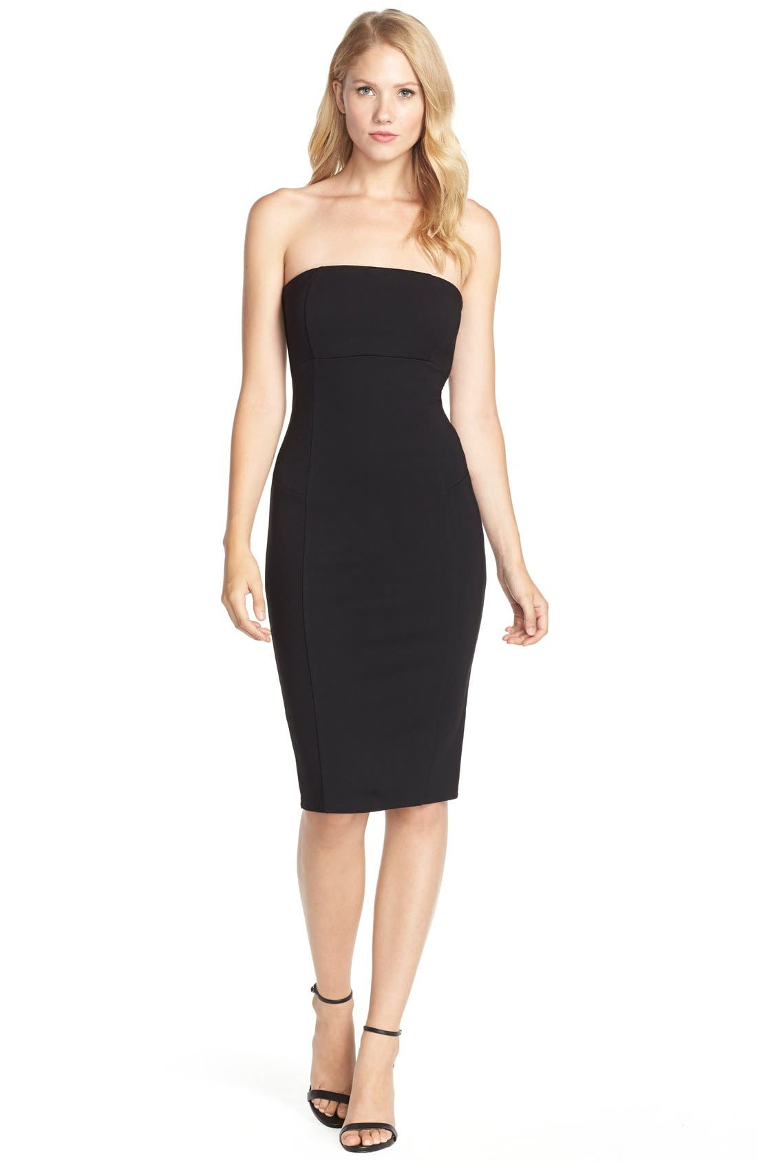 Brianna Strapless Knit Body-Con Dress,                             Alternate thumbnail 9, color,