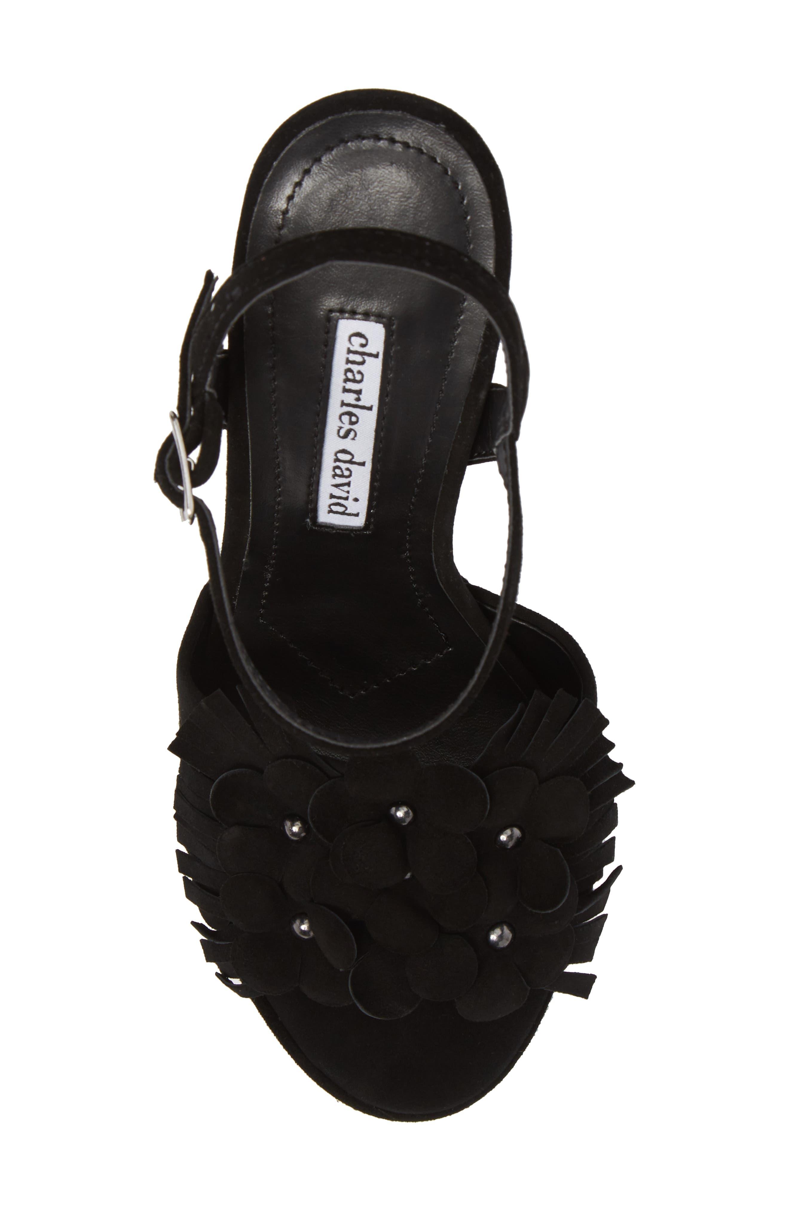 Royale Sandal,                             Alternate thumbnail 5, color,                             BLACK SUEDE