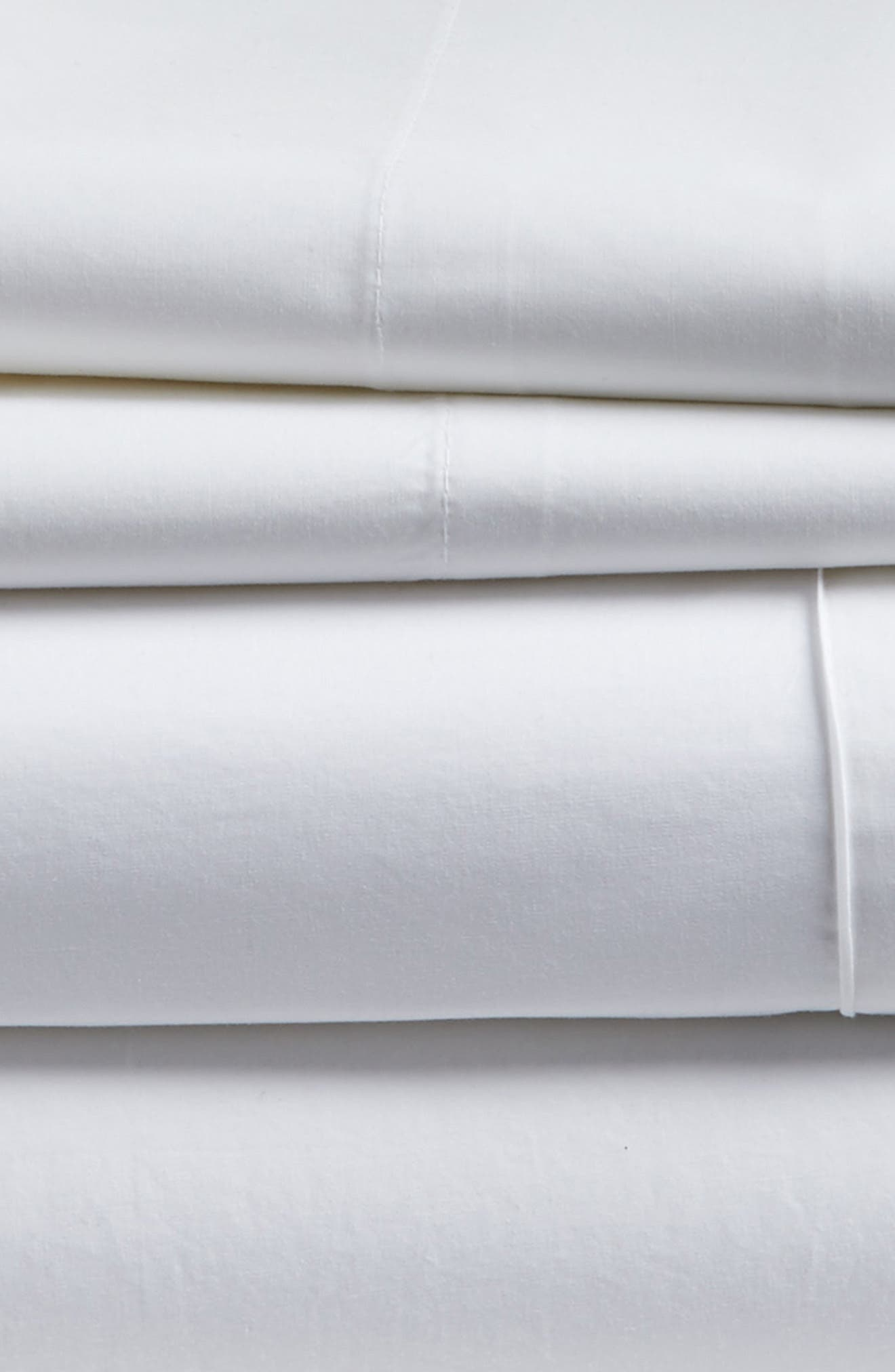 Cotton Percale Sheet Set,                             Alternate thumbnail 2, color,                             100