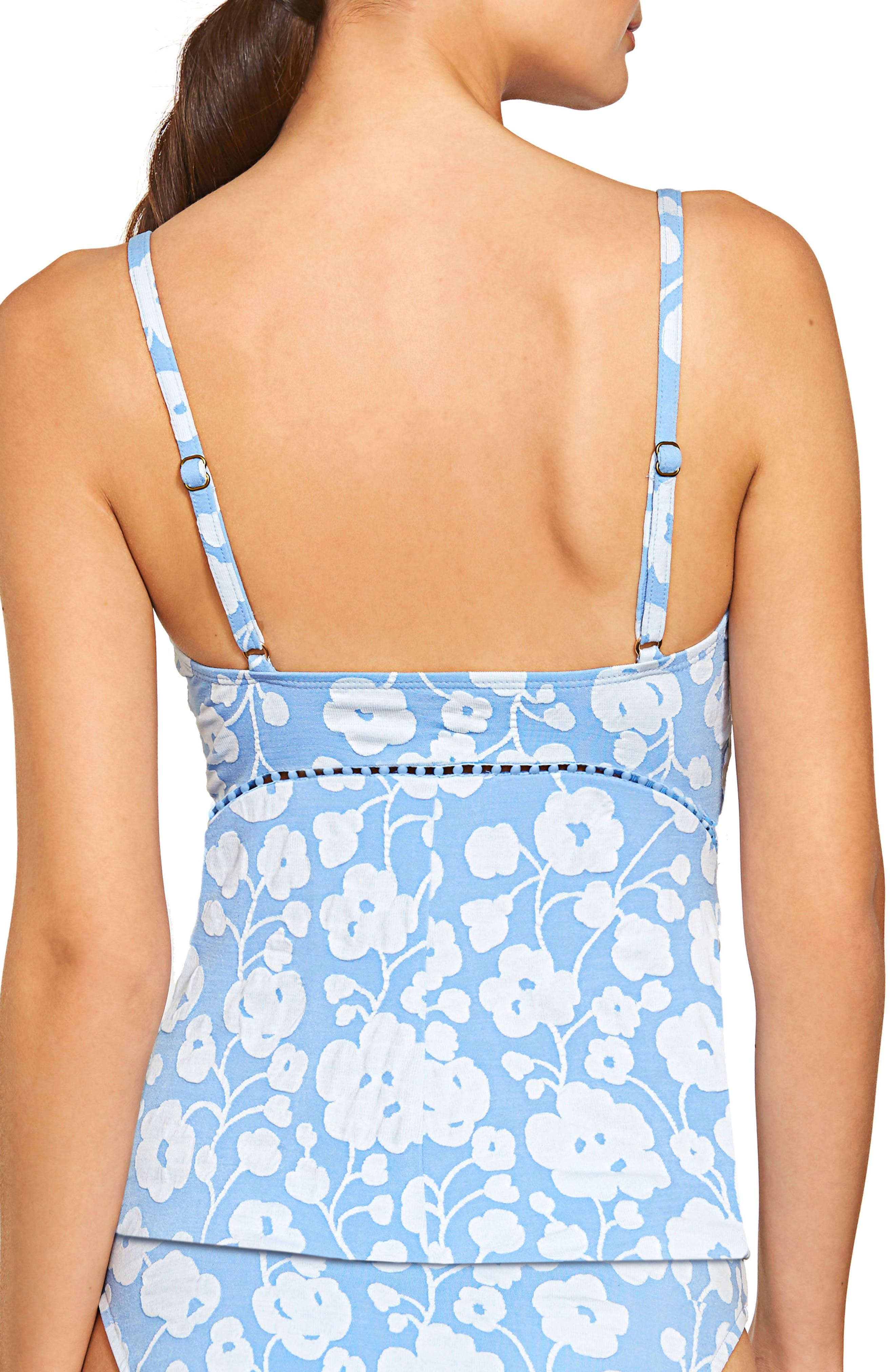 Sadie Floral Tankini Top,                             Alternate thumbnail 2, color,                             462