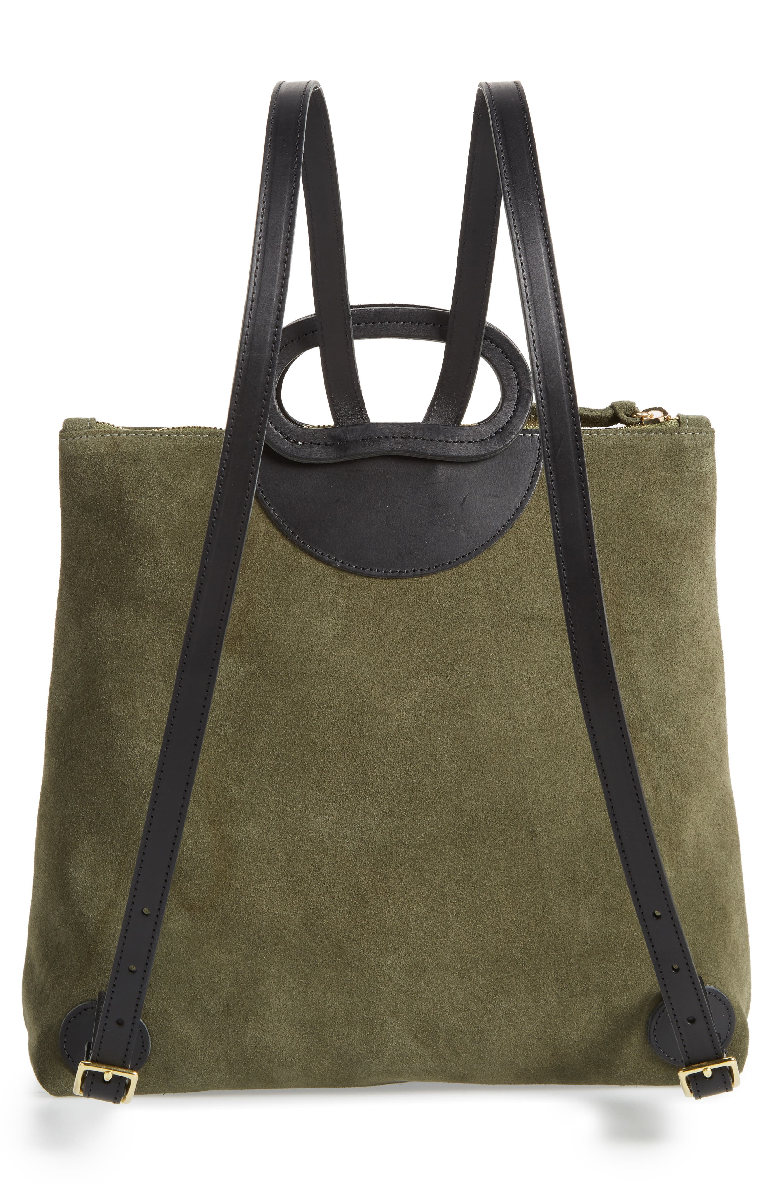 Marcelle Suede Backpack,                             Alternate thumbnail 3, color,                             ARMY SUEDE STRIPE