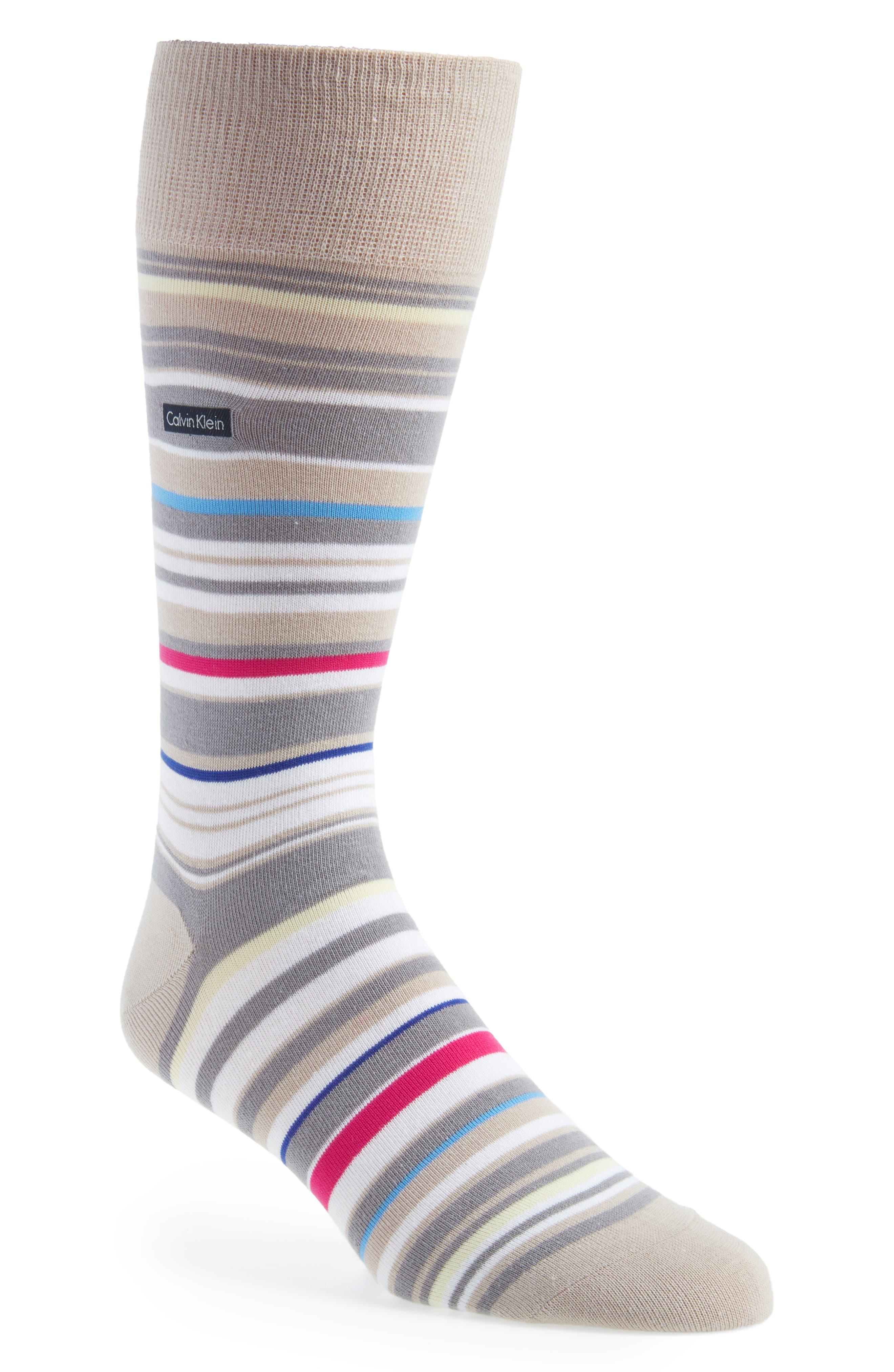 Multistripe Emblem Socks,                             Main thumbnail 1, color,                             051