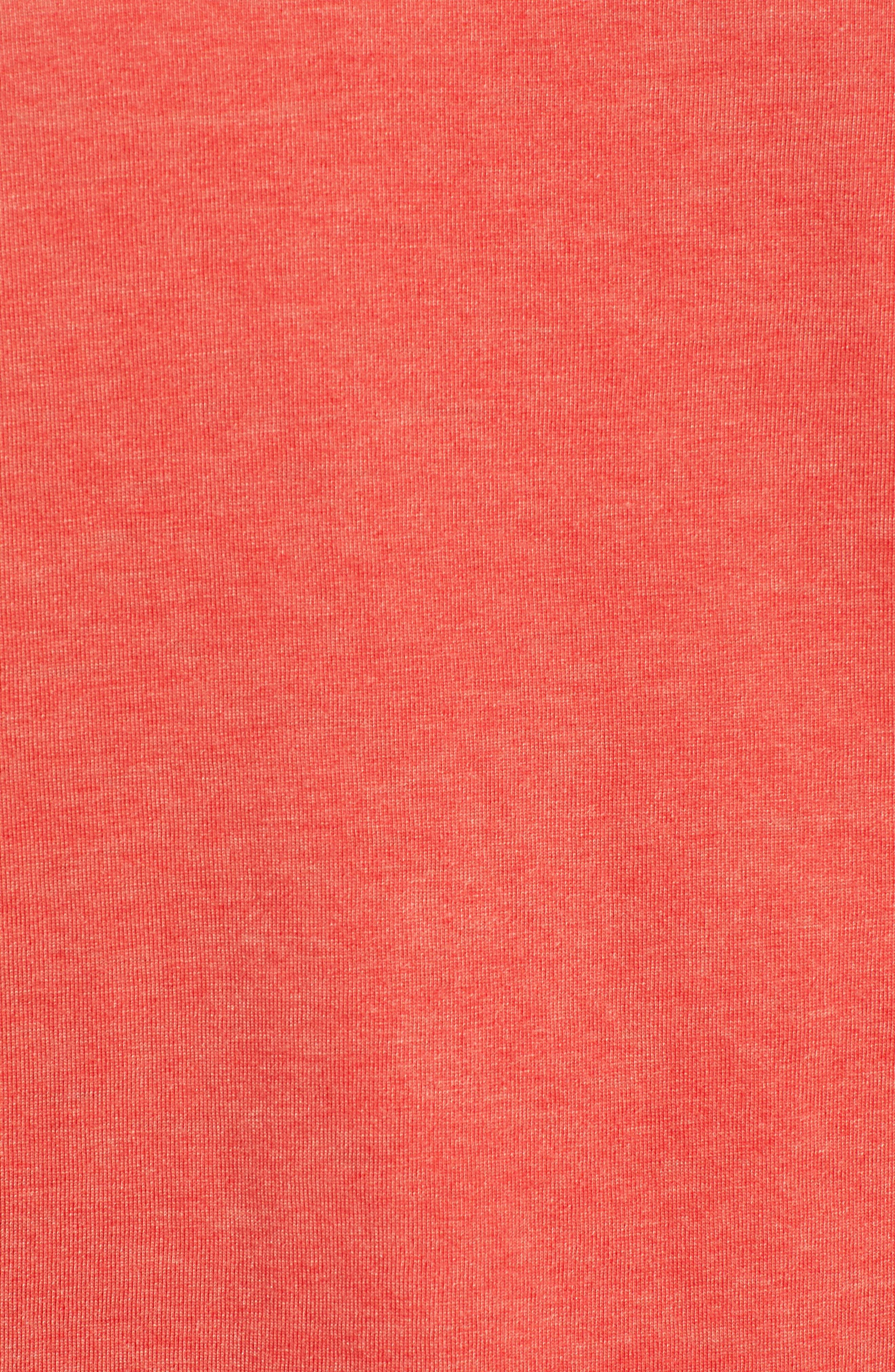 Burnout T-Shirt,                             Alternate thumbnail 5, color,                             RED MELANGE