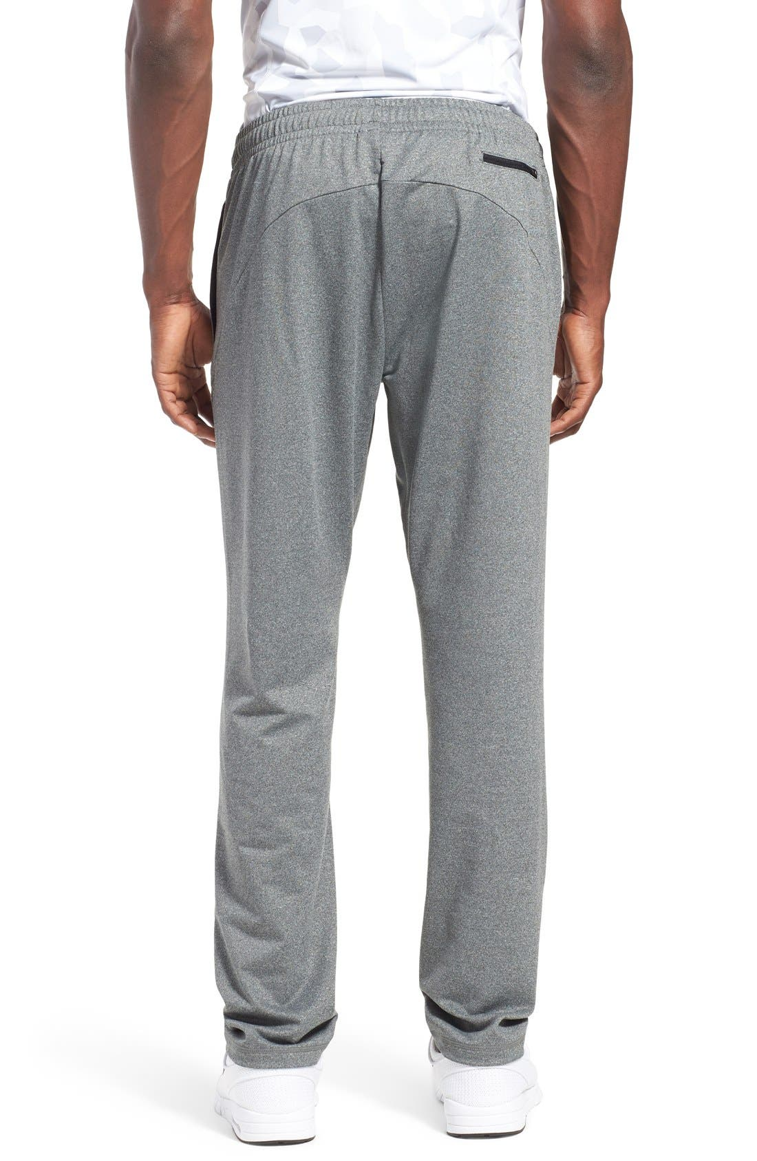 'Pyrite' Tapered Fit Knit Athletic Pants,                             Alternate thumbnail 3, color,                             GREY OBSIDIAN