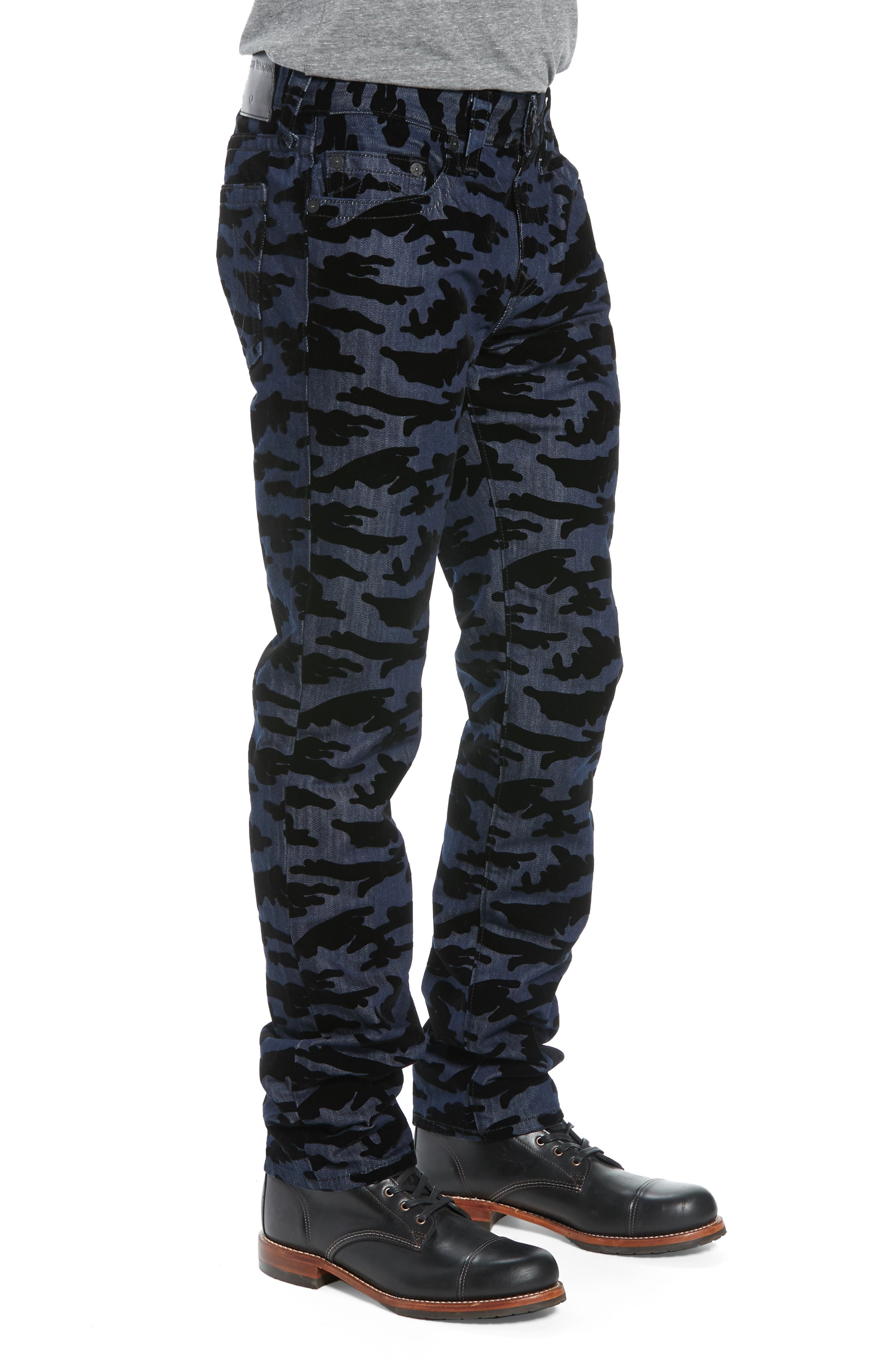 Rocco Camo Skinny Fit Jeans,                             Alternate thumbnail 3, color,                             2S BODY RINSE