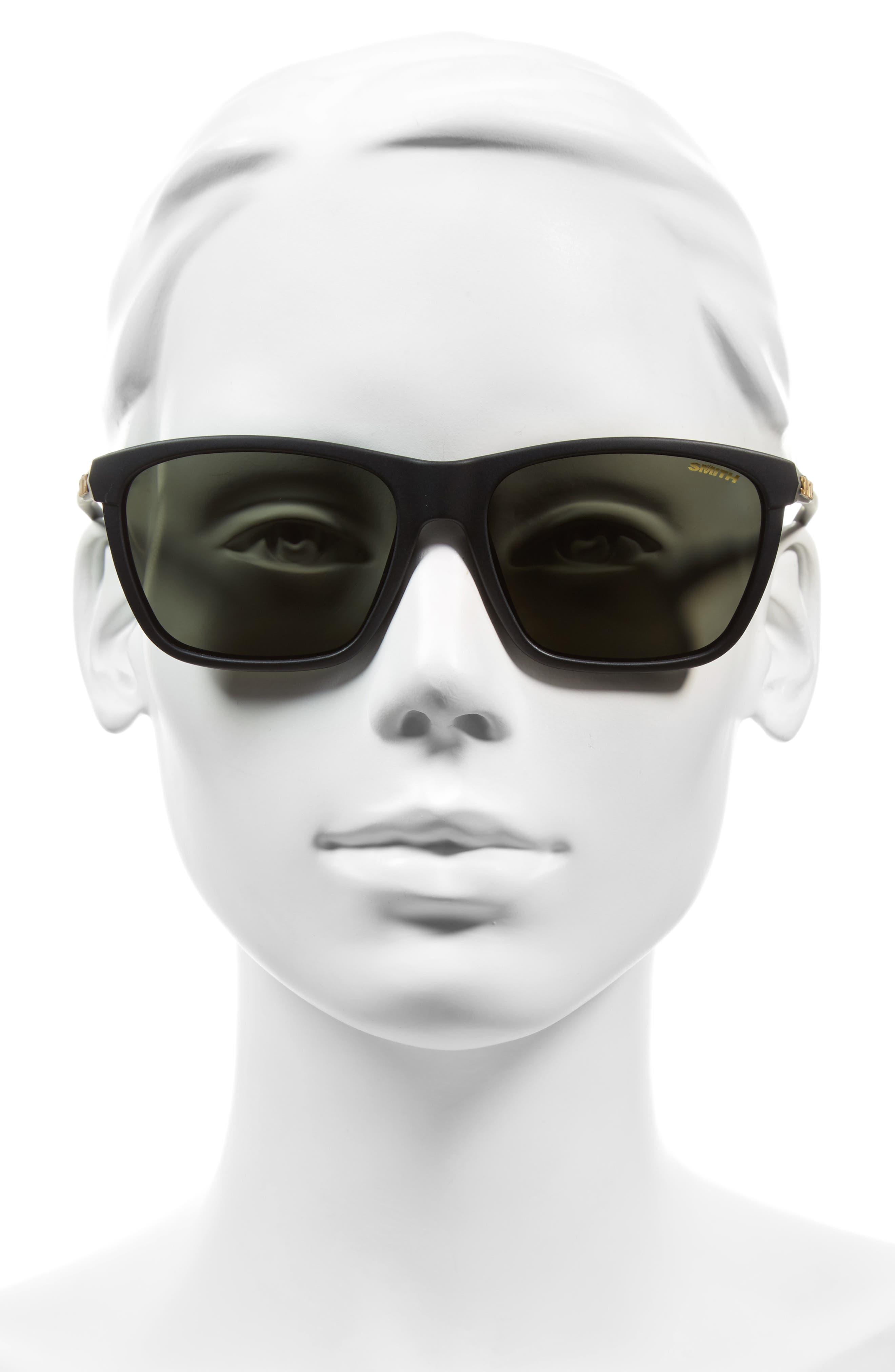 Delano 57mm Sunglasses,                             Alternate thumbnail 3, color,                             001