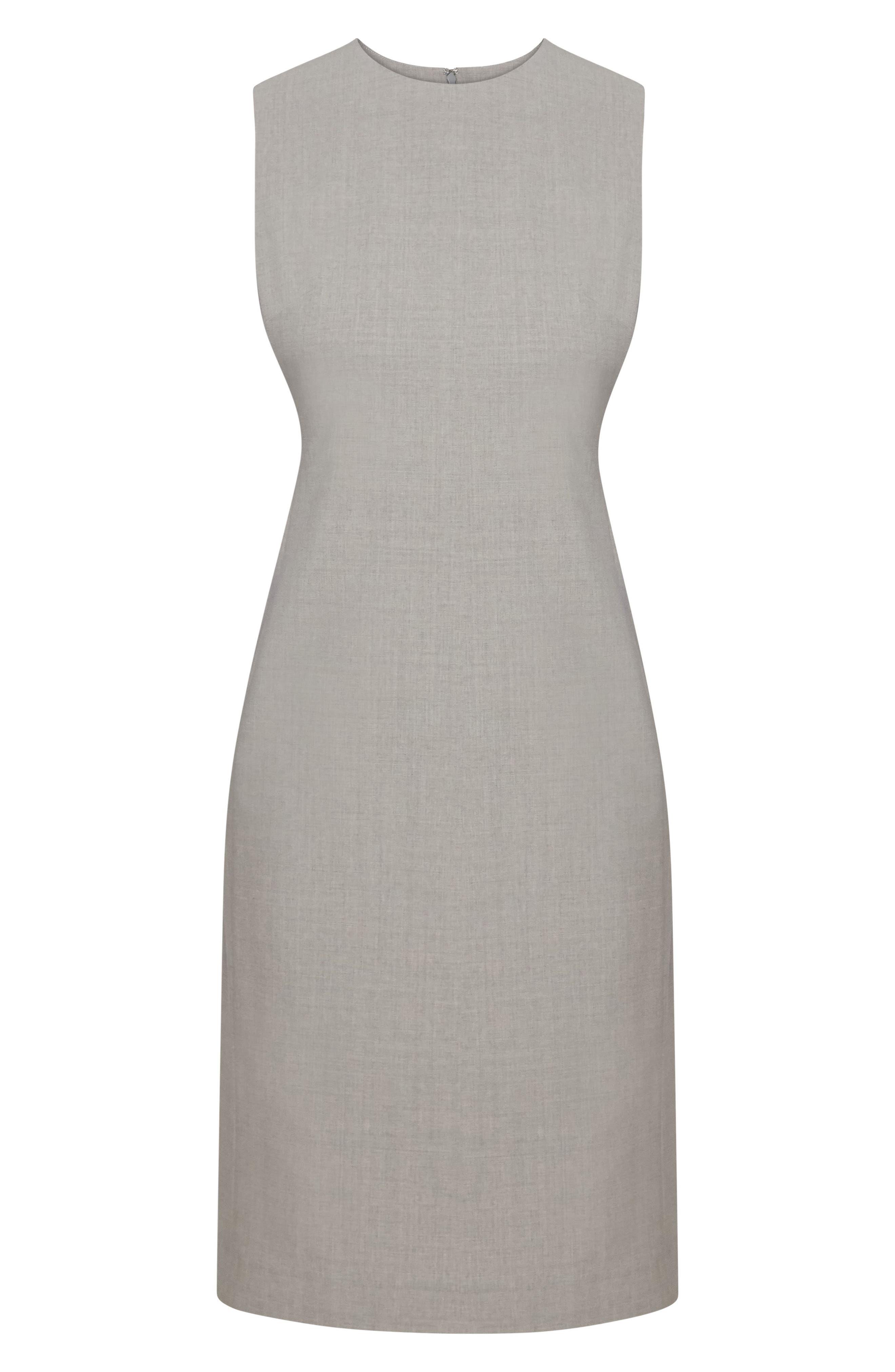 THEORY,                             Eano Good Wool Sheath Dress,                             Alternate thumbnail 4, color,                             050