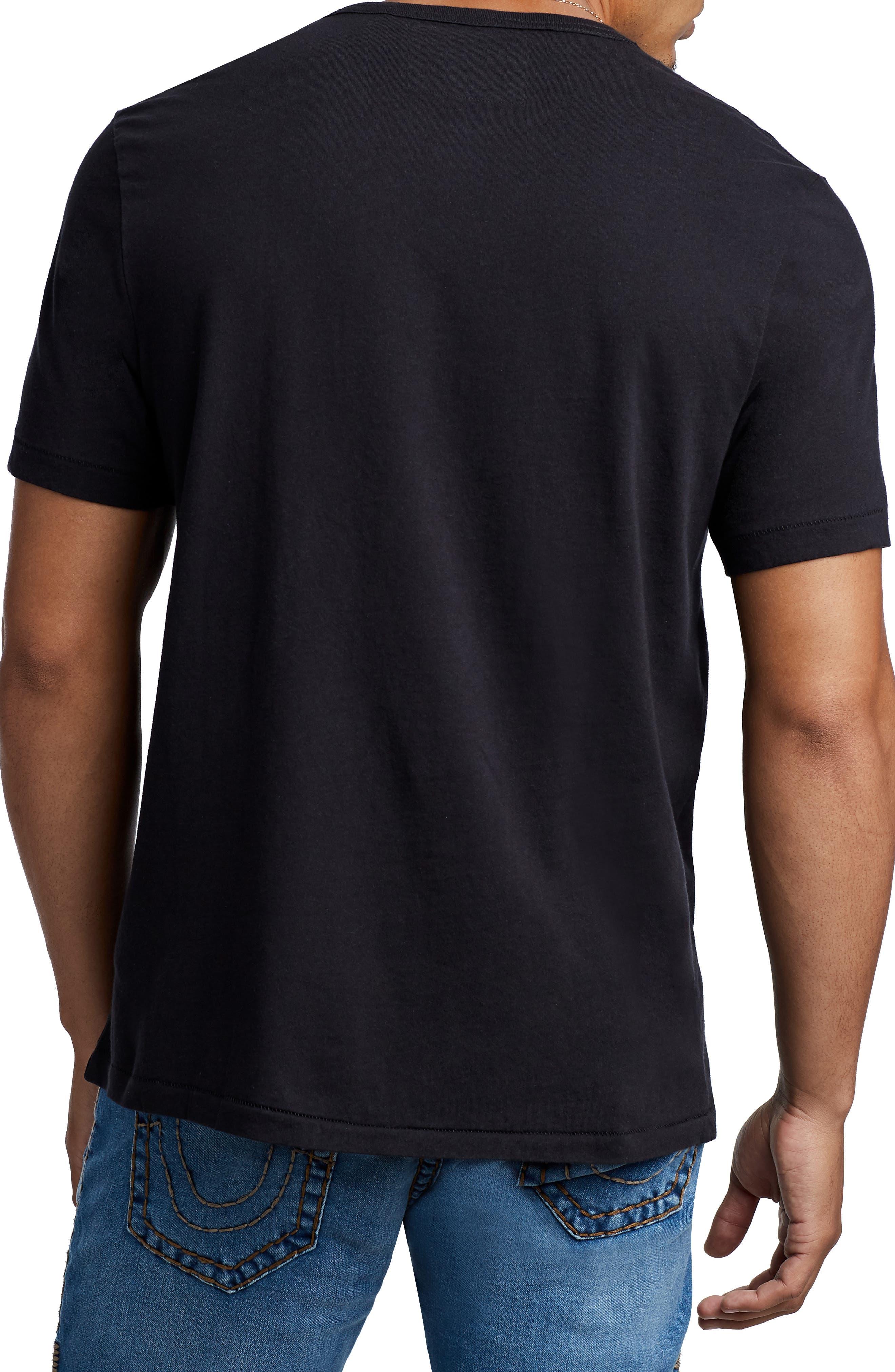 Arch Logo T-Shirt,                             Alternate thumbnail 2, color,                             TRUEST BLACK