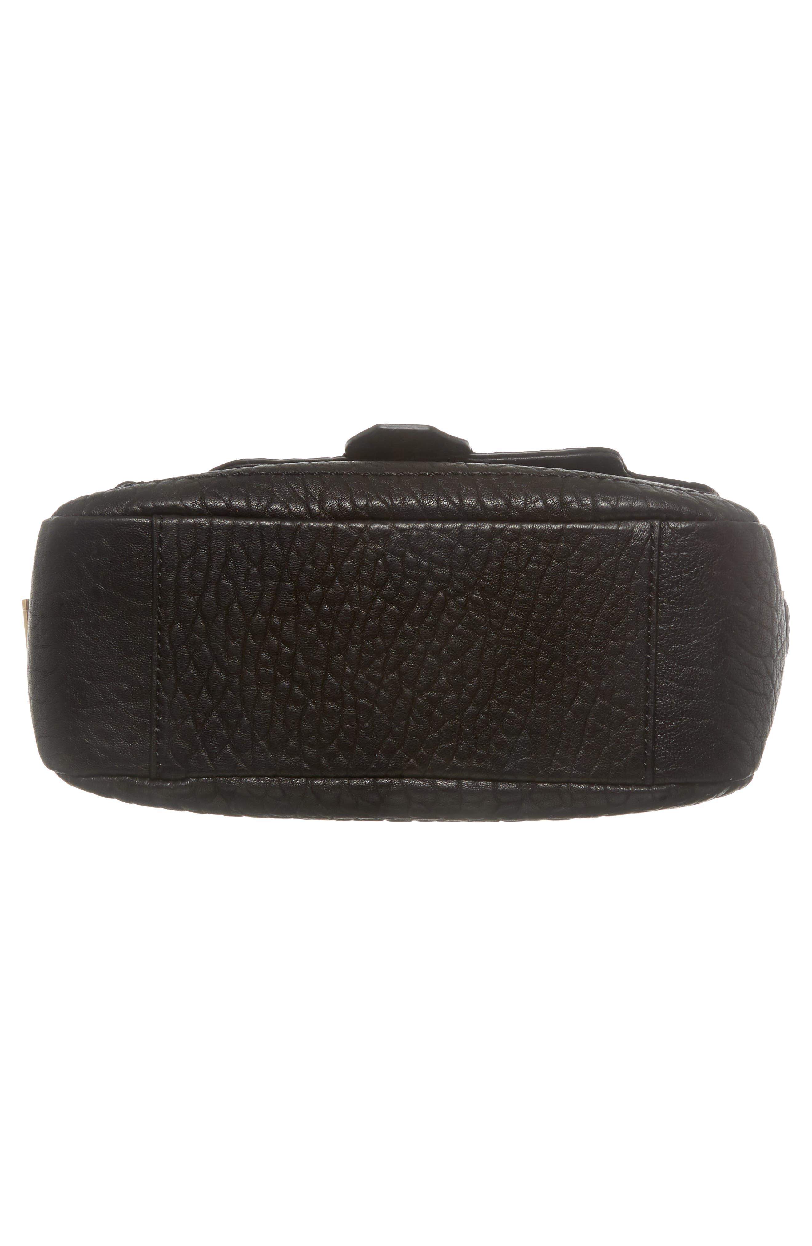 Fava Leather Crossbody Bag,                             Alternate thumbnail 6, color,                             001