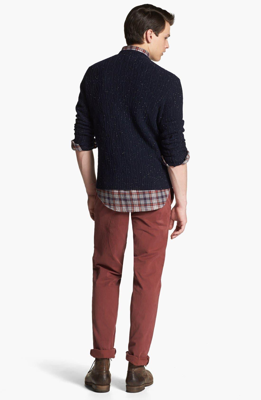 BILLY REID,                             Diamond Knit Wool V-Neck Sweater,                             Alternate thumbnail 4, color,                             410