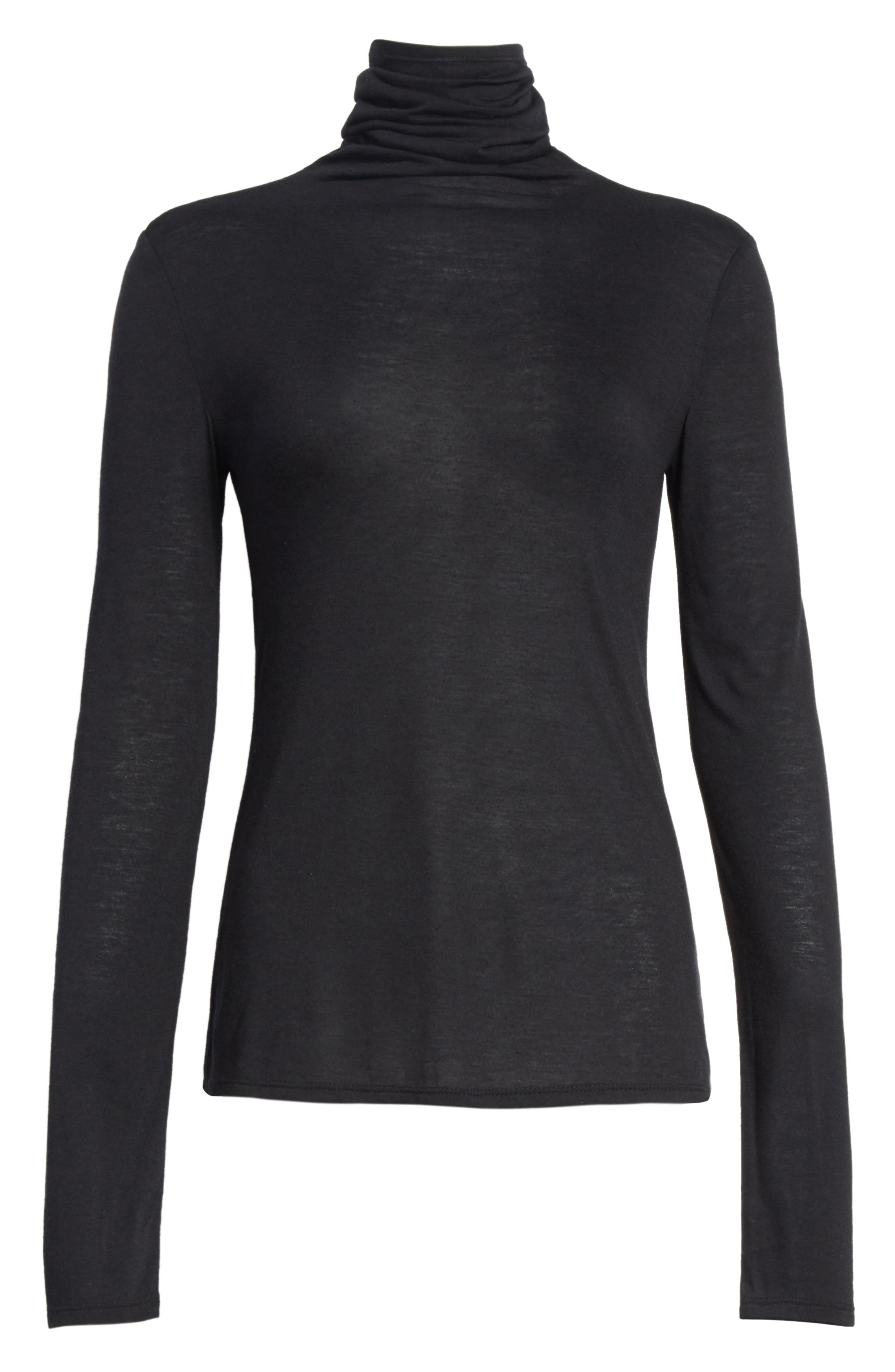 The Perfect Tee Turtleneck,                             Alternate thumbnail 6, color,