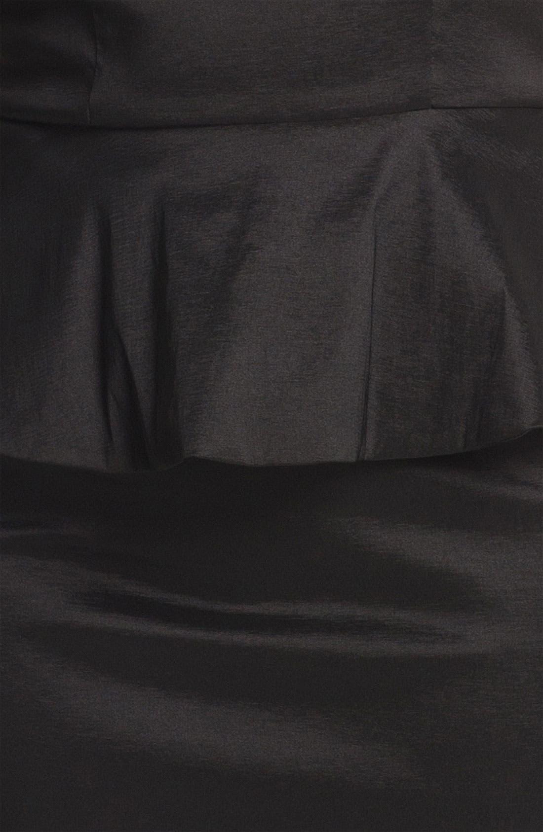 Lace Detail Peplum Dress,                             Alternate thumbnail 2, color,                             001