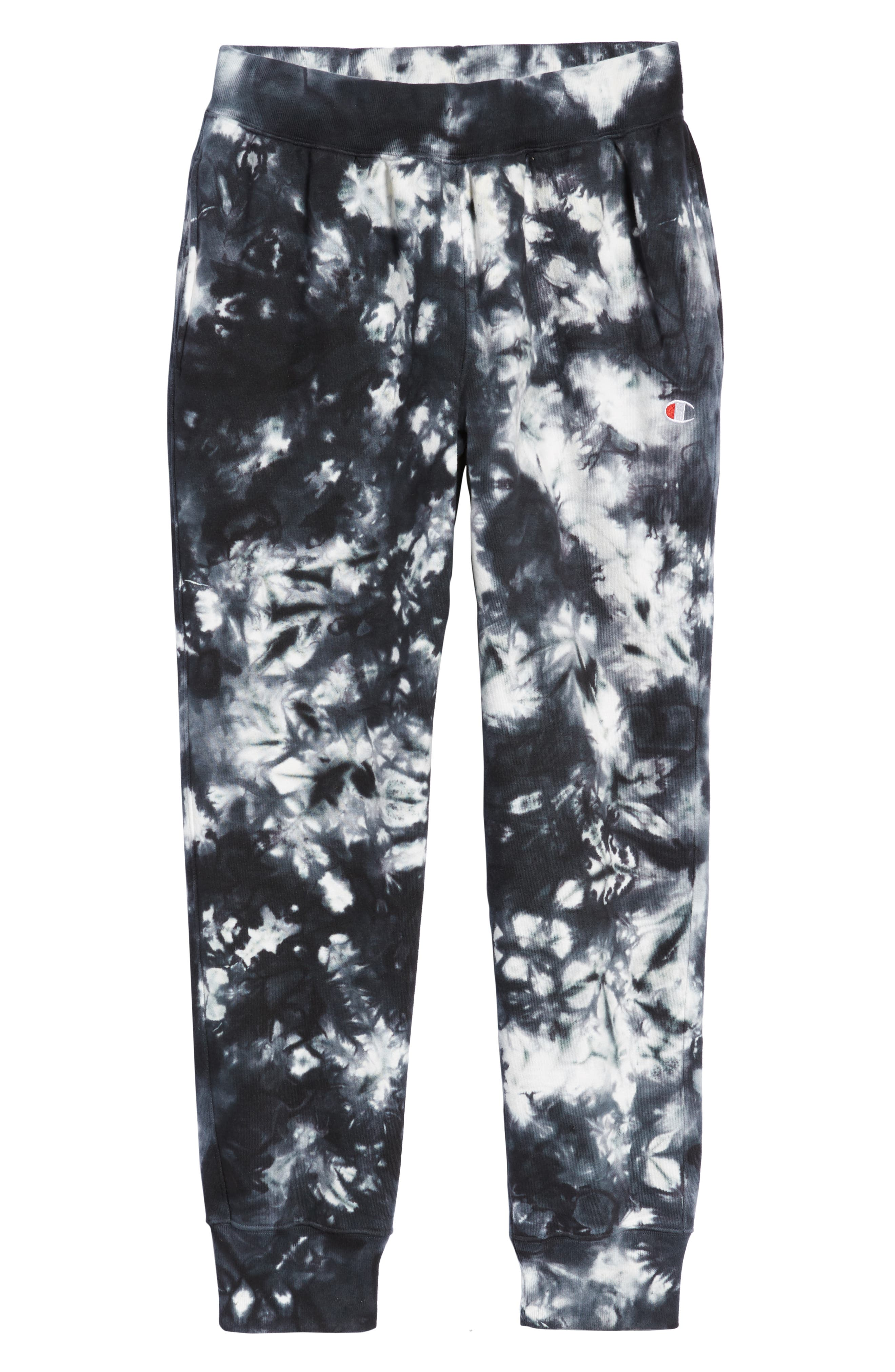 Scrunch Dye Reverse Sweatpants,                             Alternate thumbnail 6, color,                             BLACK