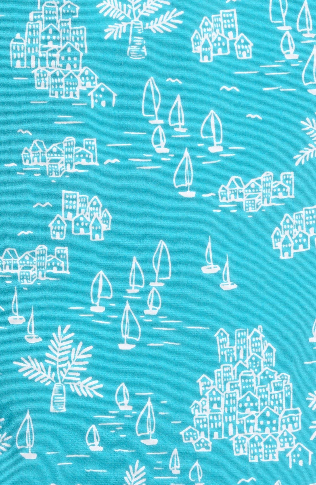 Naples Santorini Sails Swim Trunks,                             Alternate thumbnail 5, color,                             400