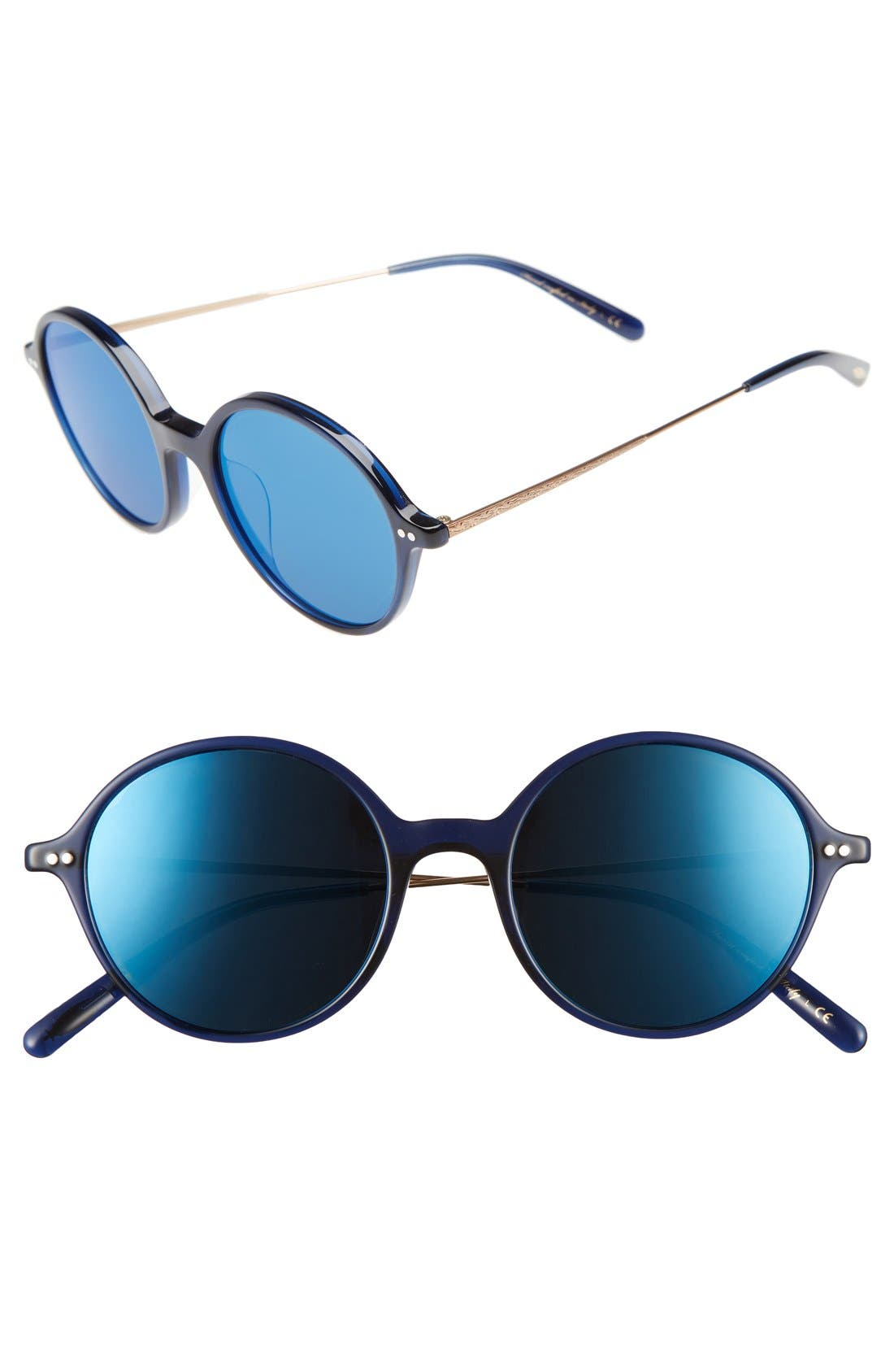 Corby 51mm Round Sunglasses,                             Main thumbnail 4, color,
