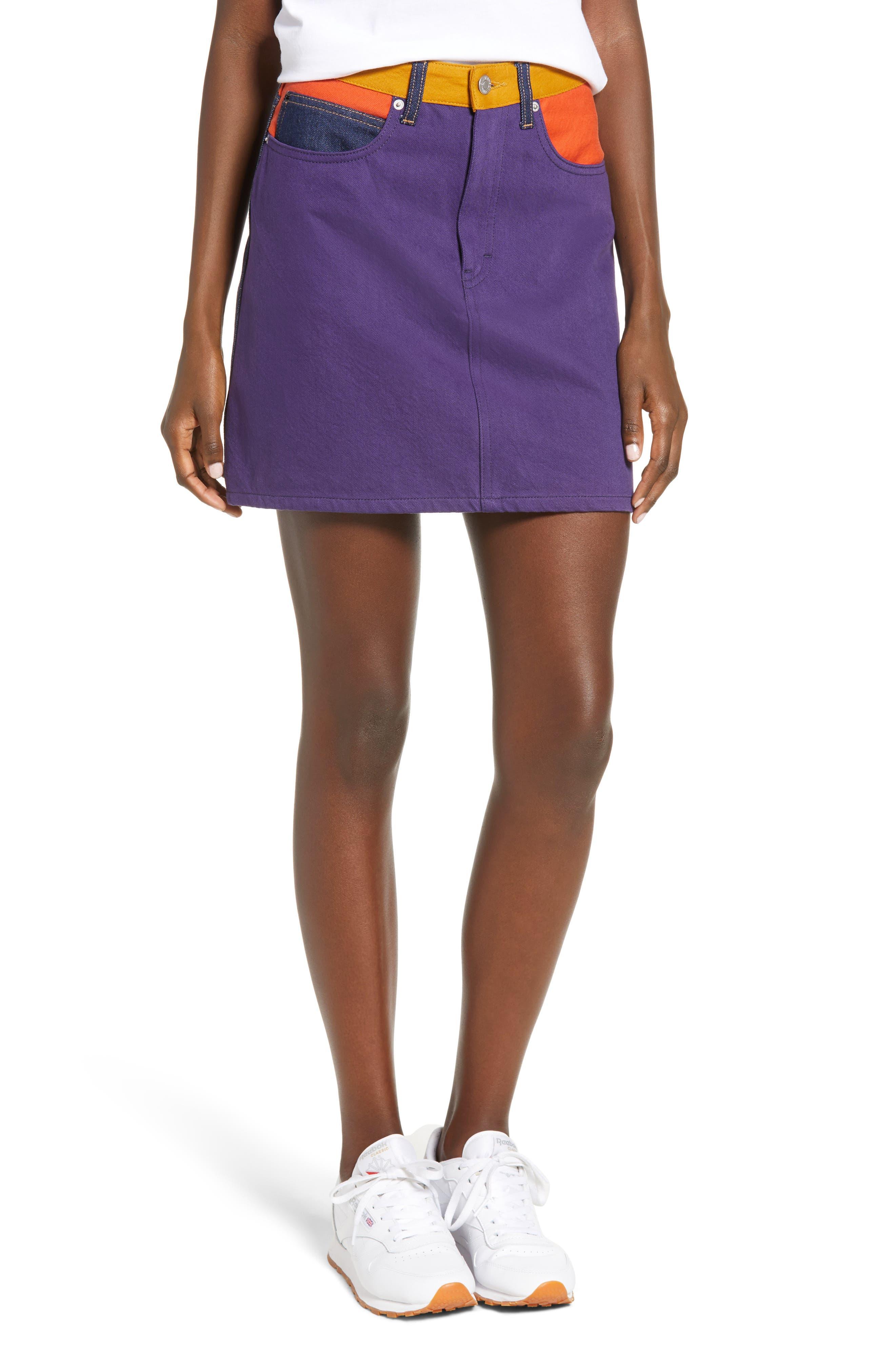 Calvin Klein Jeans Hr Miniskirt, Purple