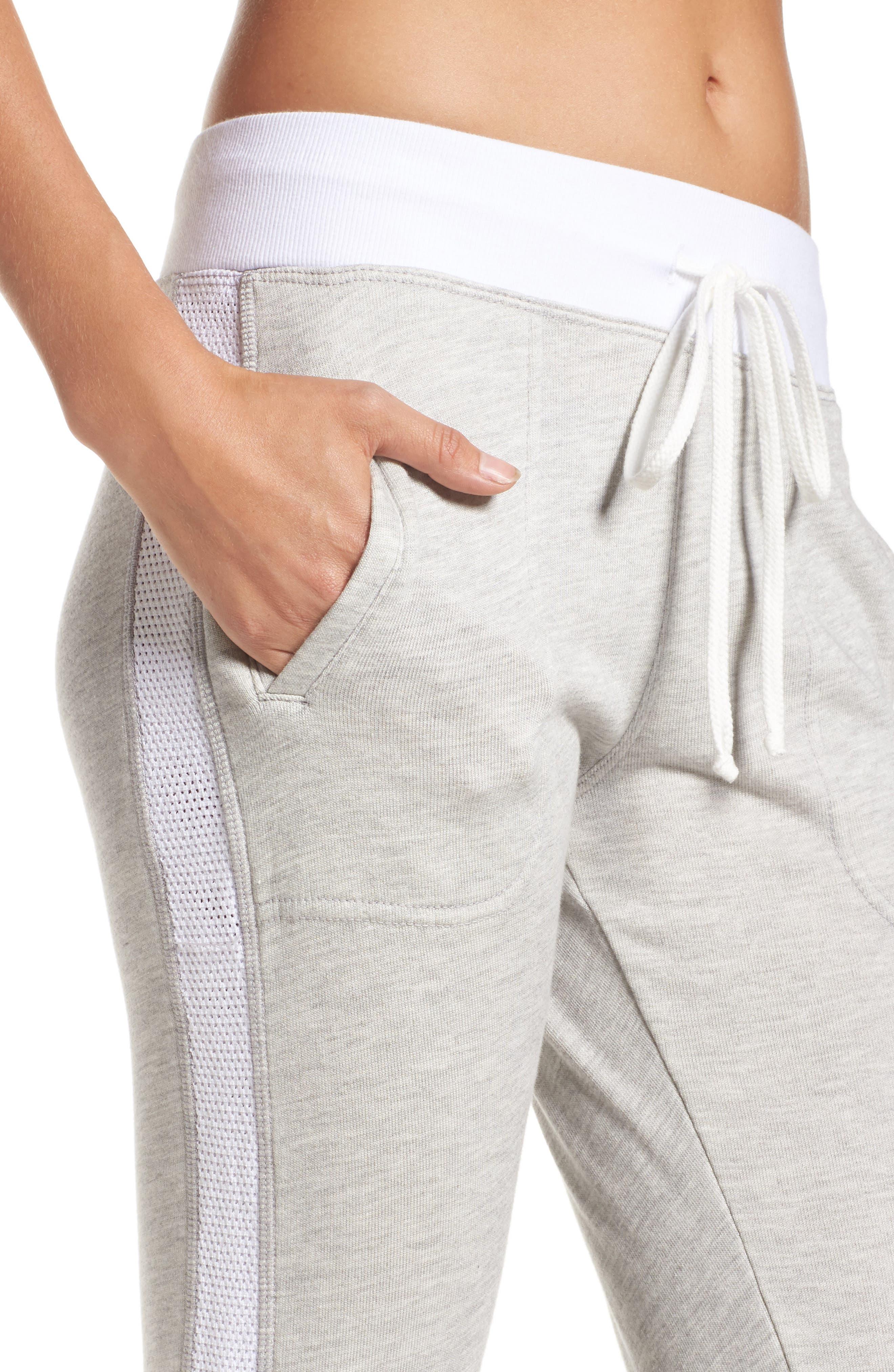 Mesh Stripe Track Pants,                             Alternate thumbnail 4, color,                             032