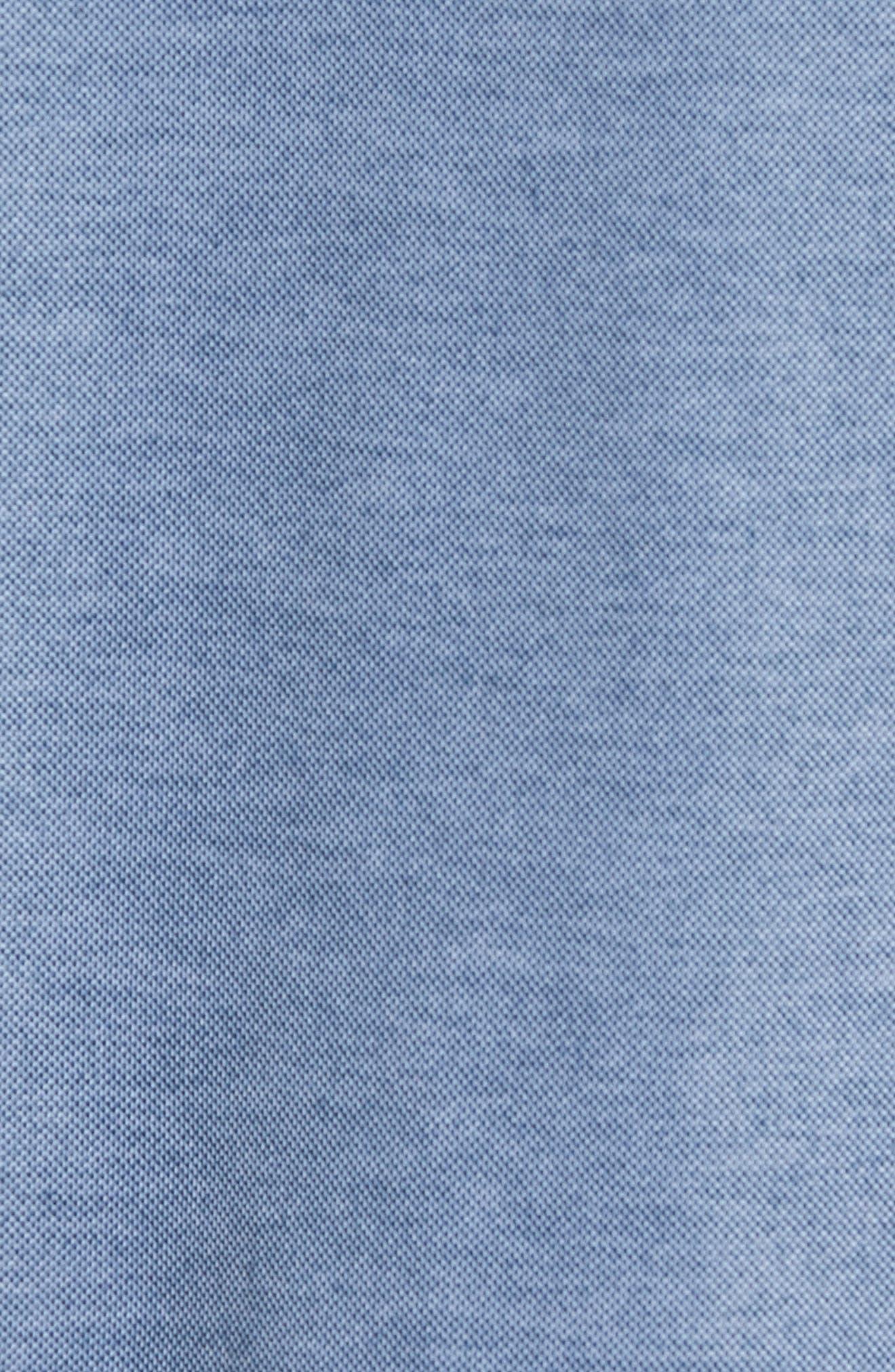 Racket Piqué Polo,                             Alternate thumbnail 5, color,                             HEATHER BLUE WING TEAL