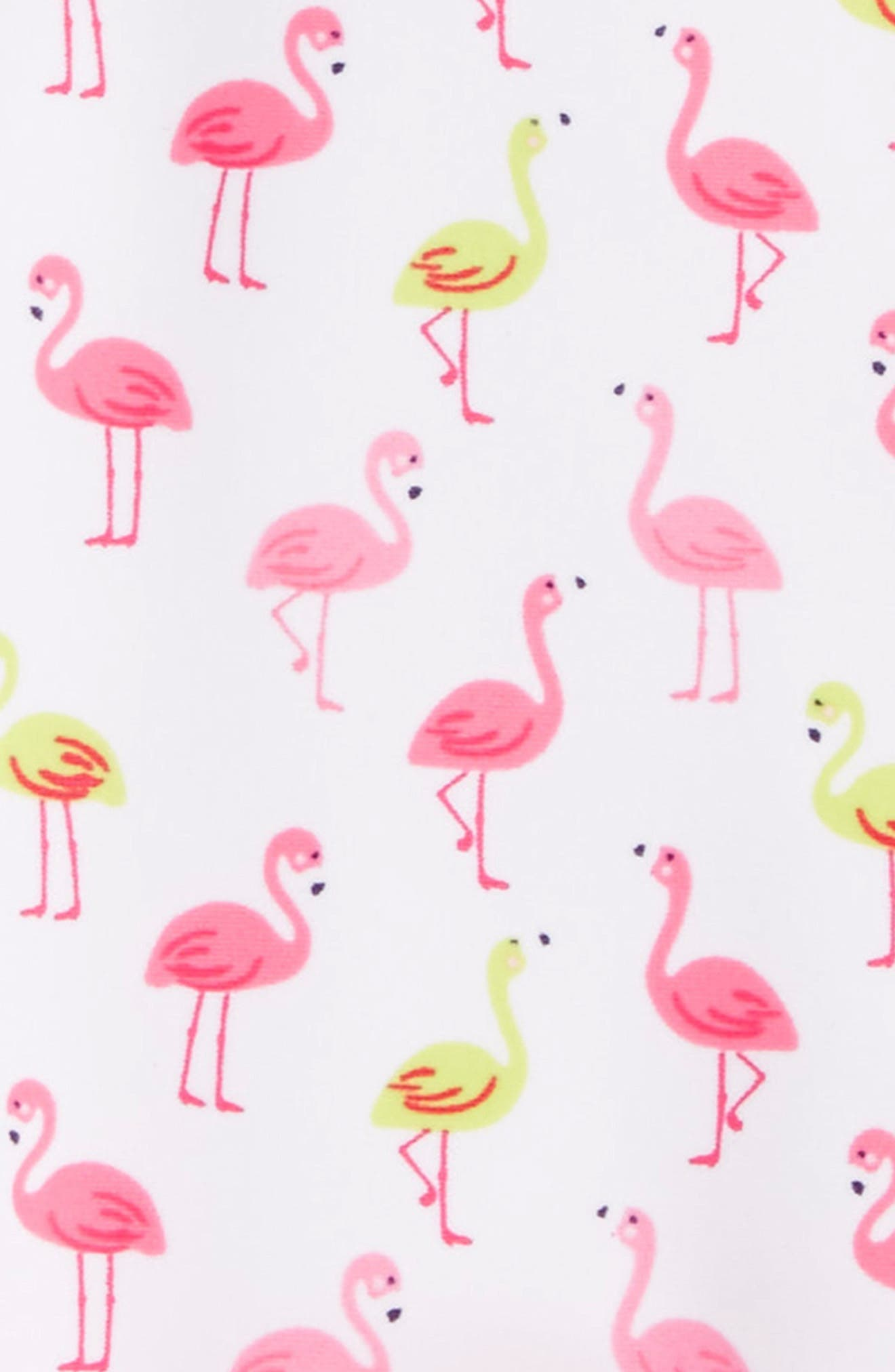 Flamingo Print One-Piece Swimsuit,                             Alternate thumbnail 2, color,