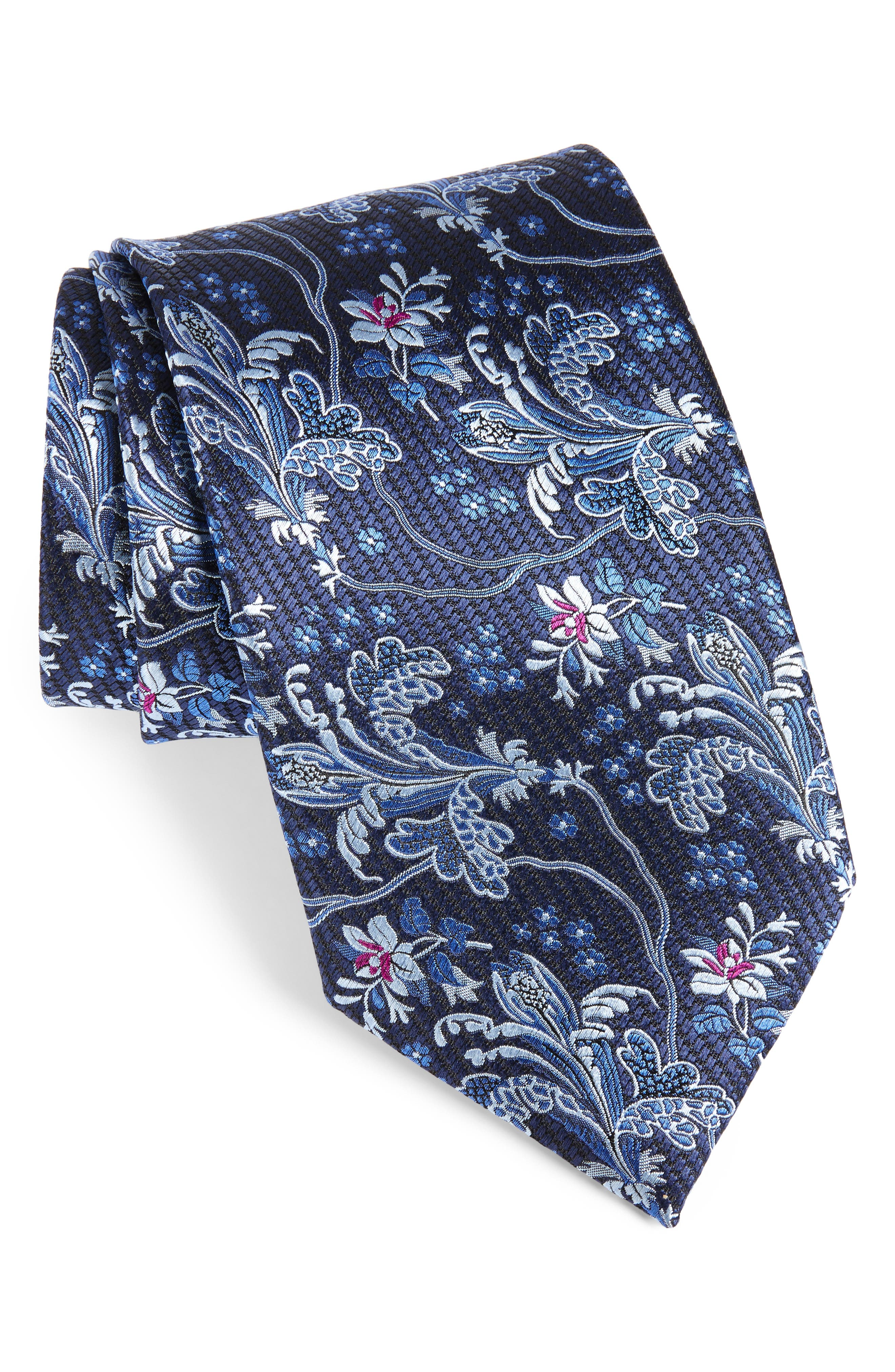 Paisley Silk Tie,                             Main thumbnail 1, color,