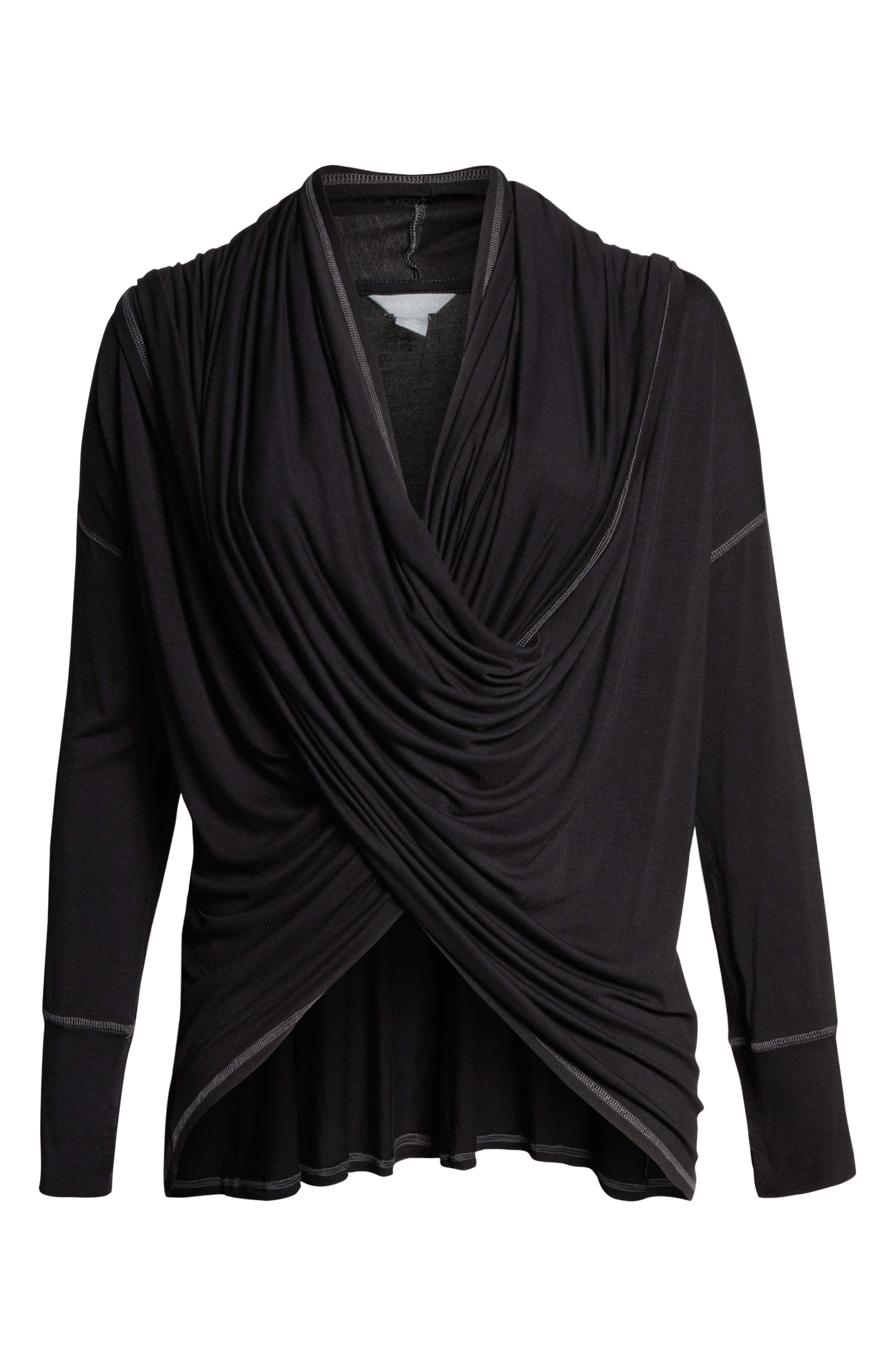 Off-Duty Long Convertible Cardigan,                             Alternate thumbnail 12, color,                             001
