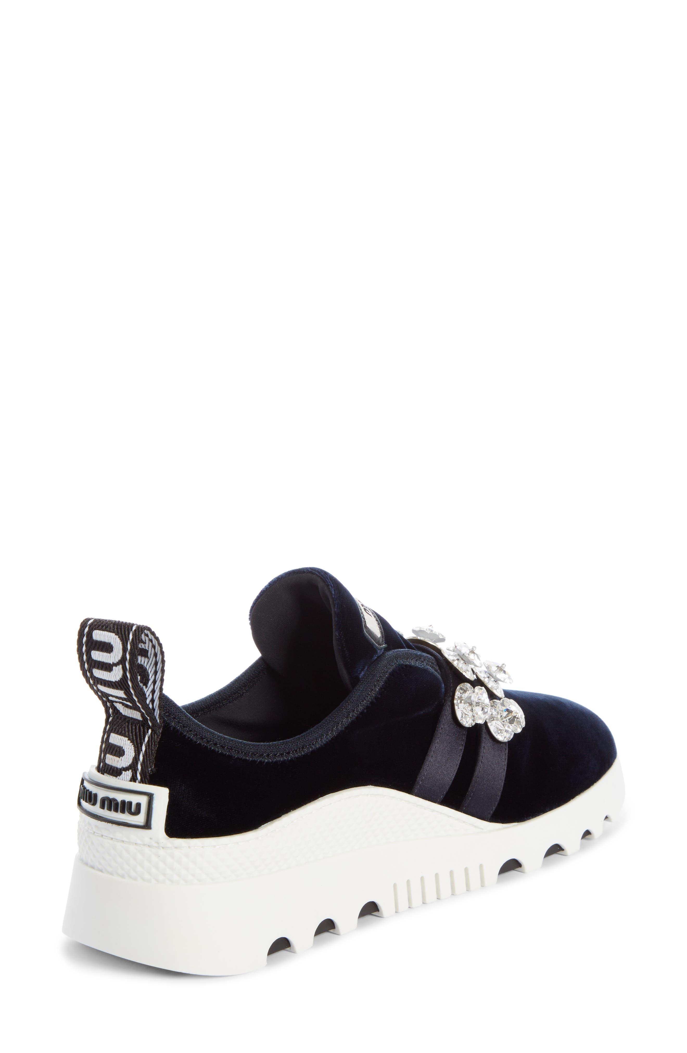 Jewel Strap Slip-On Sneaker,                             Alternate thumbnail 2, color,                             BLUE