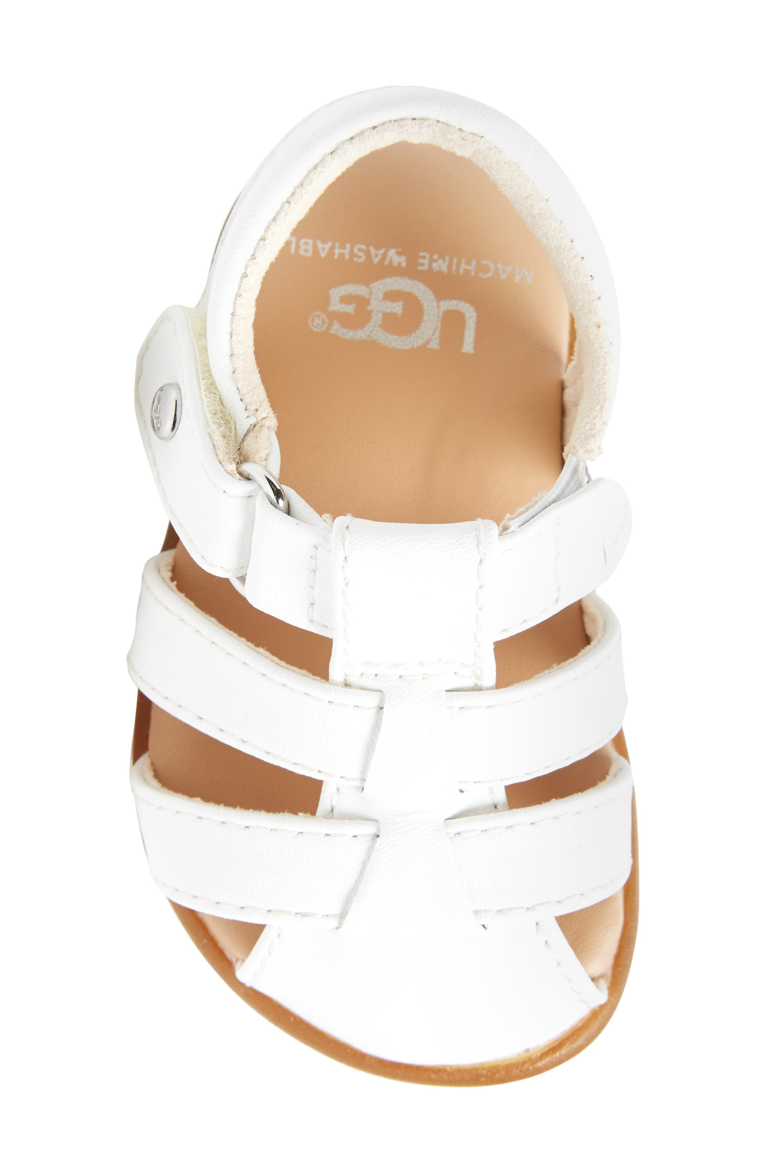 Kolding Fisherman Sandal,                             Alternate thumbnail 5, color,                             WHITE