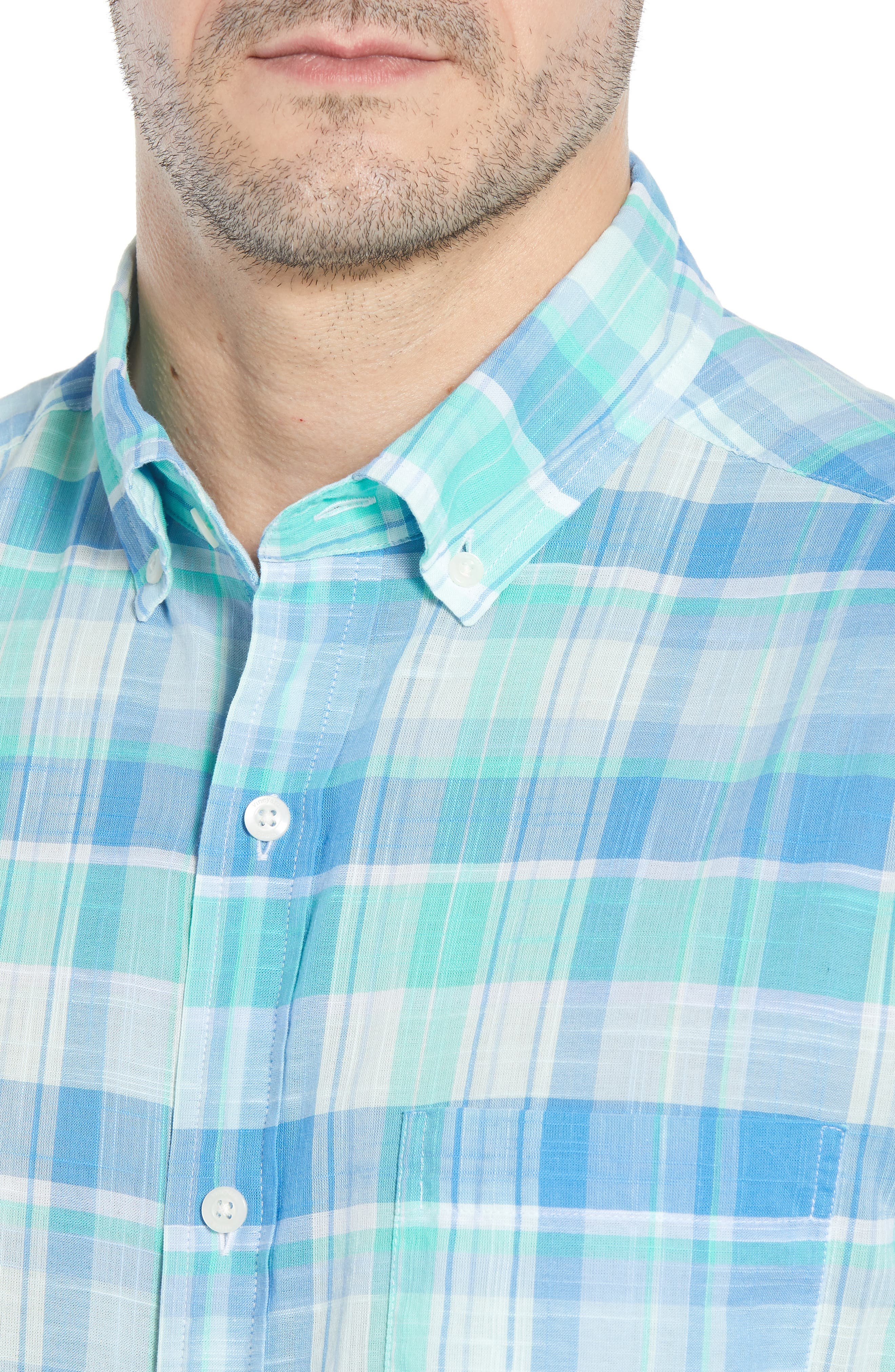 Homer Pond Murray Classic Fit Plaid Sport Shirt,                             Alternate thumbnail 4, color,