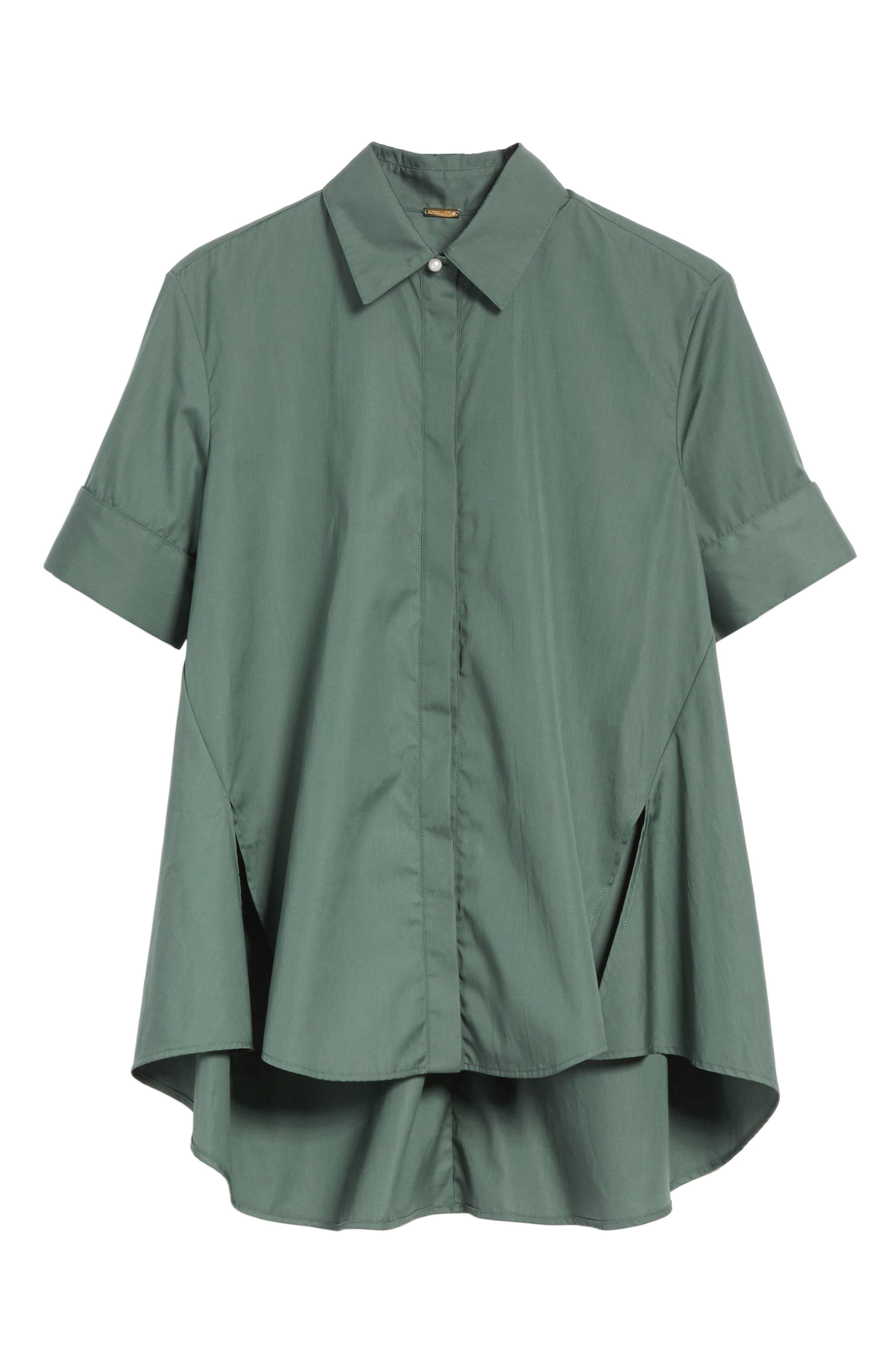 Cotton Poplin Trapeze Shirt,                             Alternate thumbnail 6, color,                             310