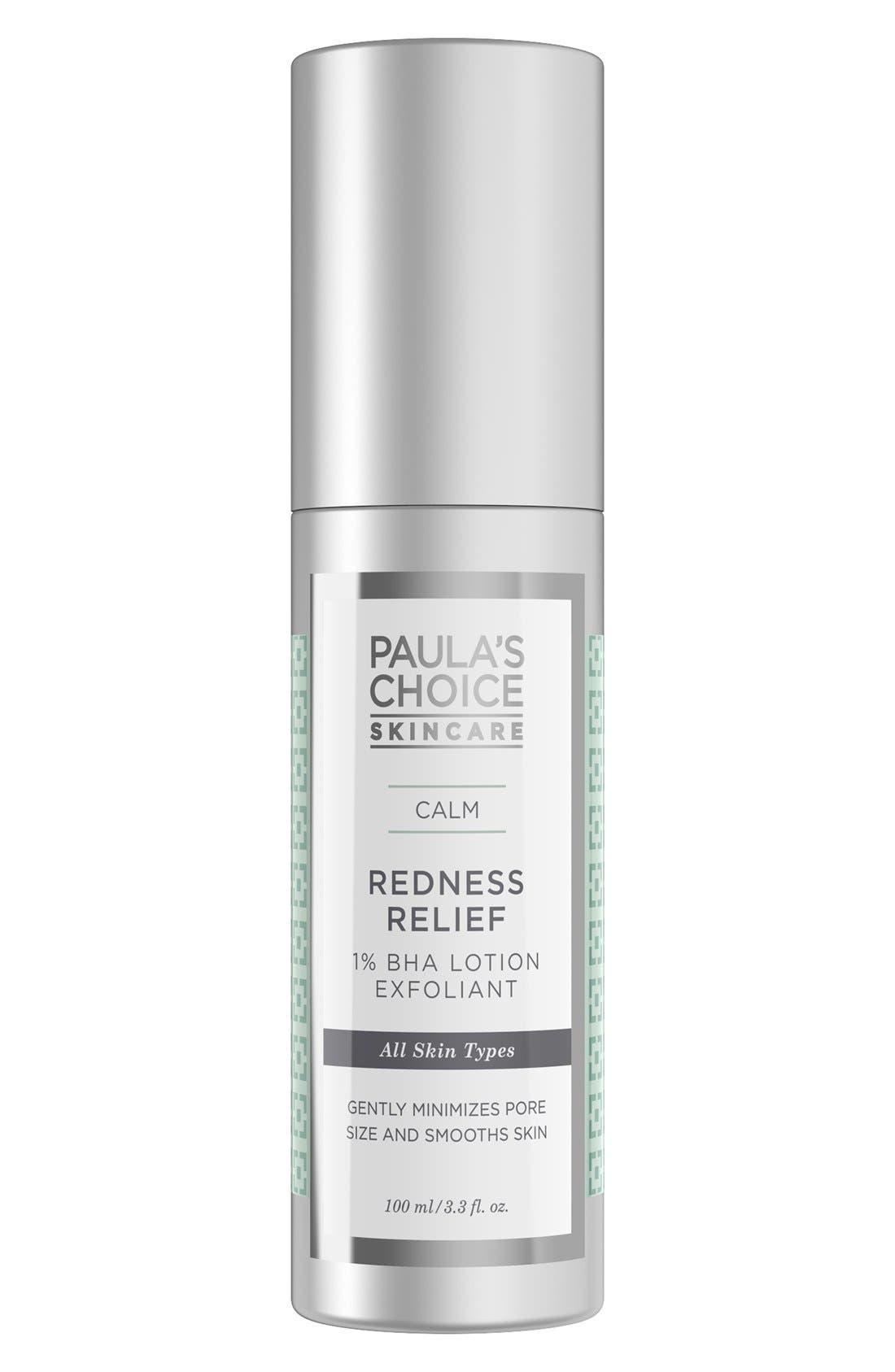 Calm Redness Relief 1% BHA Lotion Exfoliant,                             Main thumbnail 1, color,                             NO COLOR